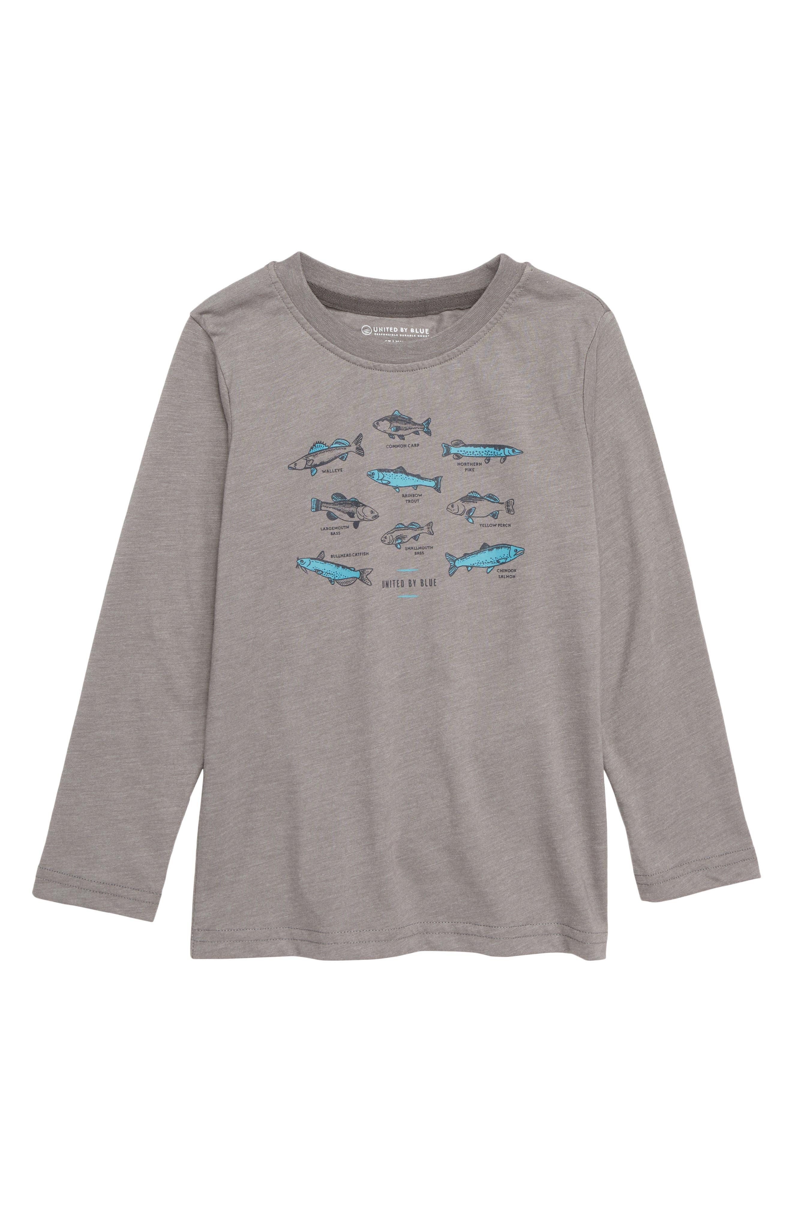 Go Fish T-Shirt,                         Main,                         color, STEEL GREY