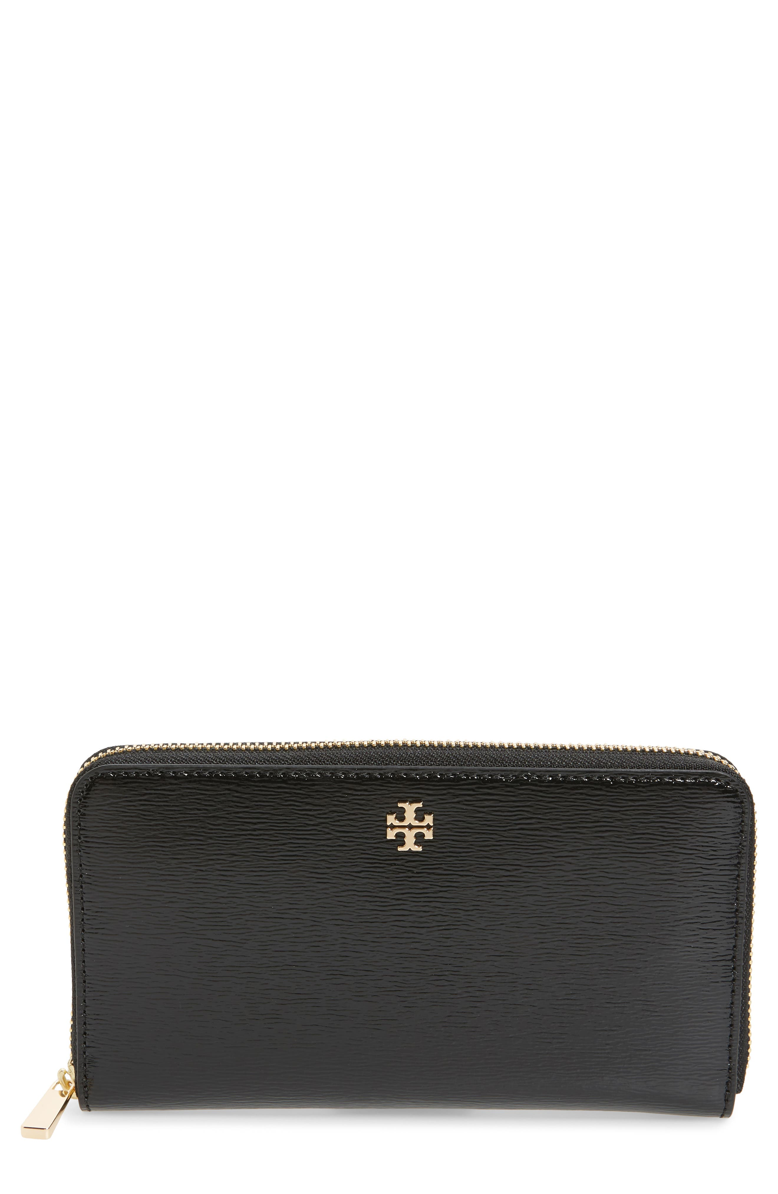 Robinson Patent Leather Continental Wallet,                         Main,                         color, 001
