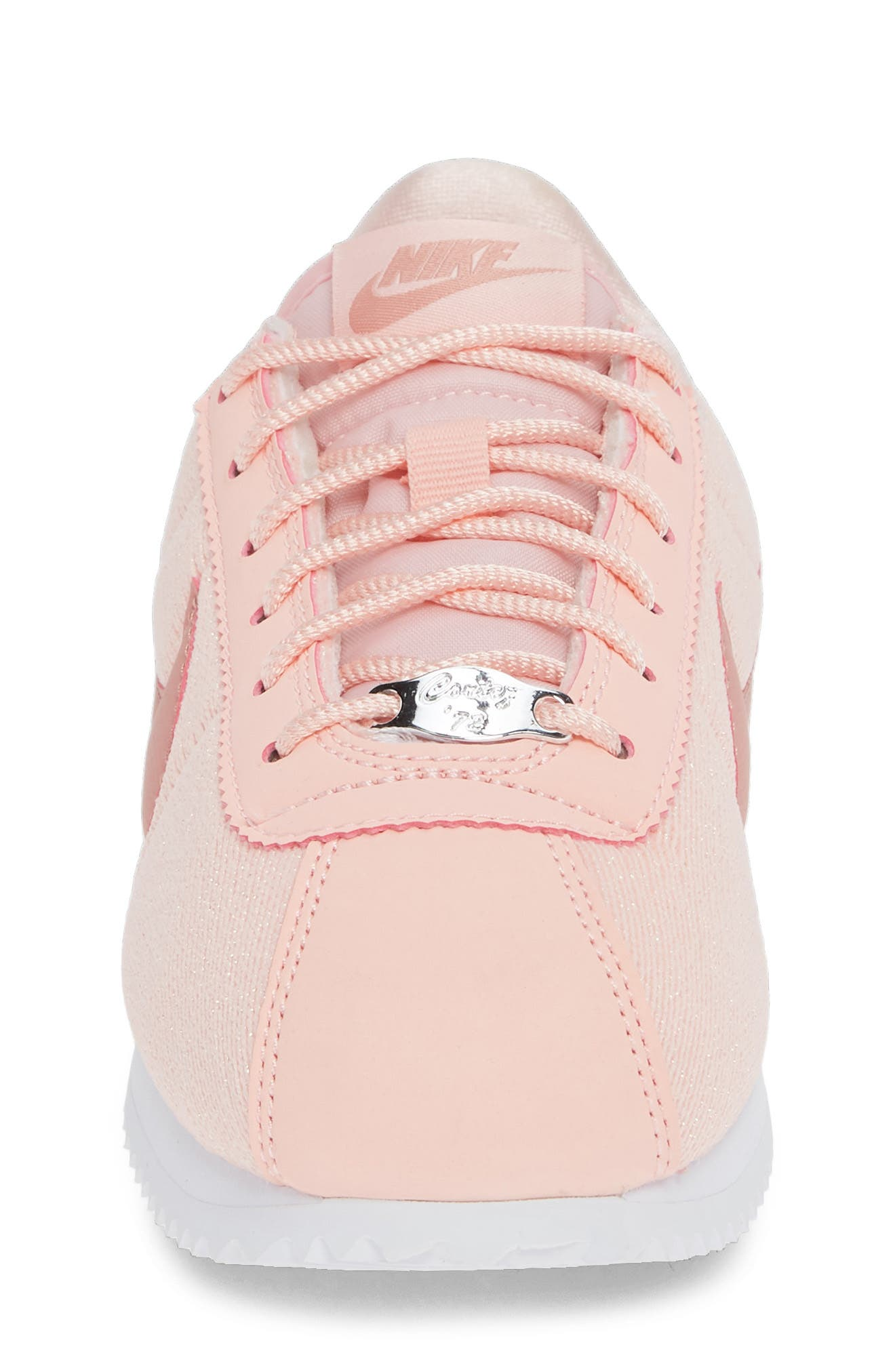 Cortez Basic TXT SE Sneaker,                             Alternate thumbnail 4, color,                             STORM PINK/ RUST PINK/ WHITE