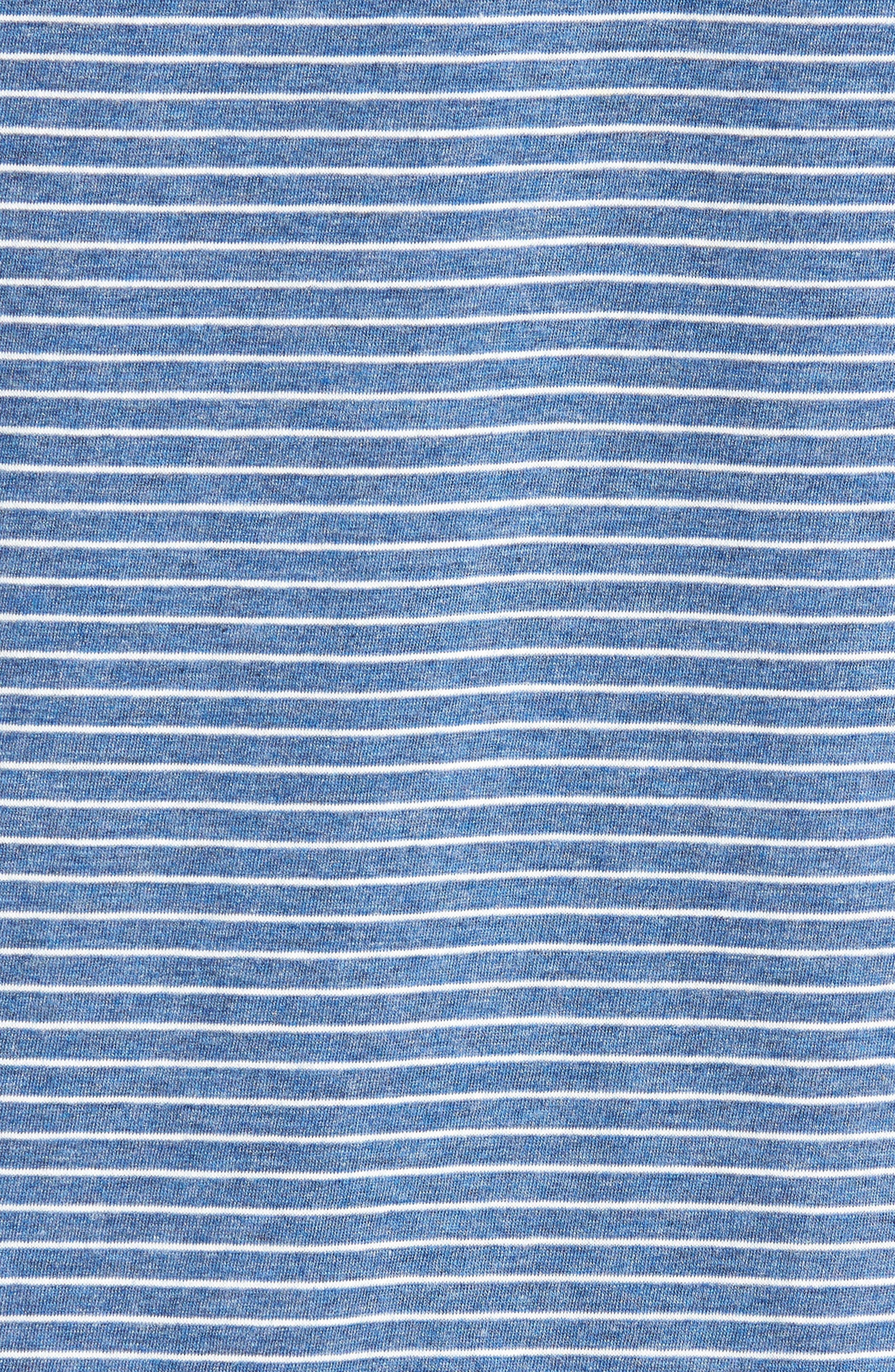 Stripe Pima Cotton & Modal V-Neck T-Shirt,                             Alternate thumbnail 5, color,                             479