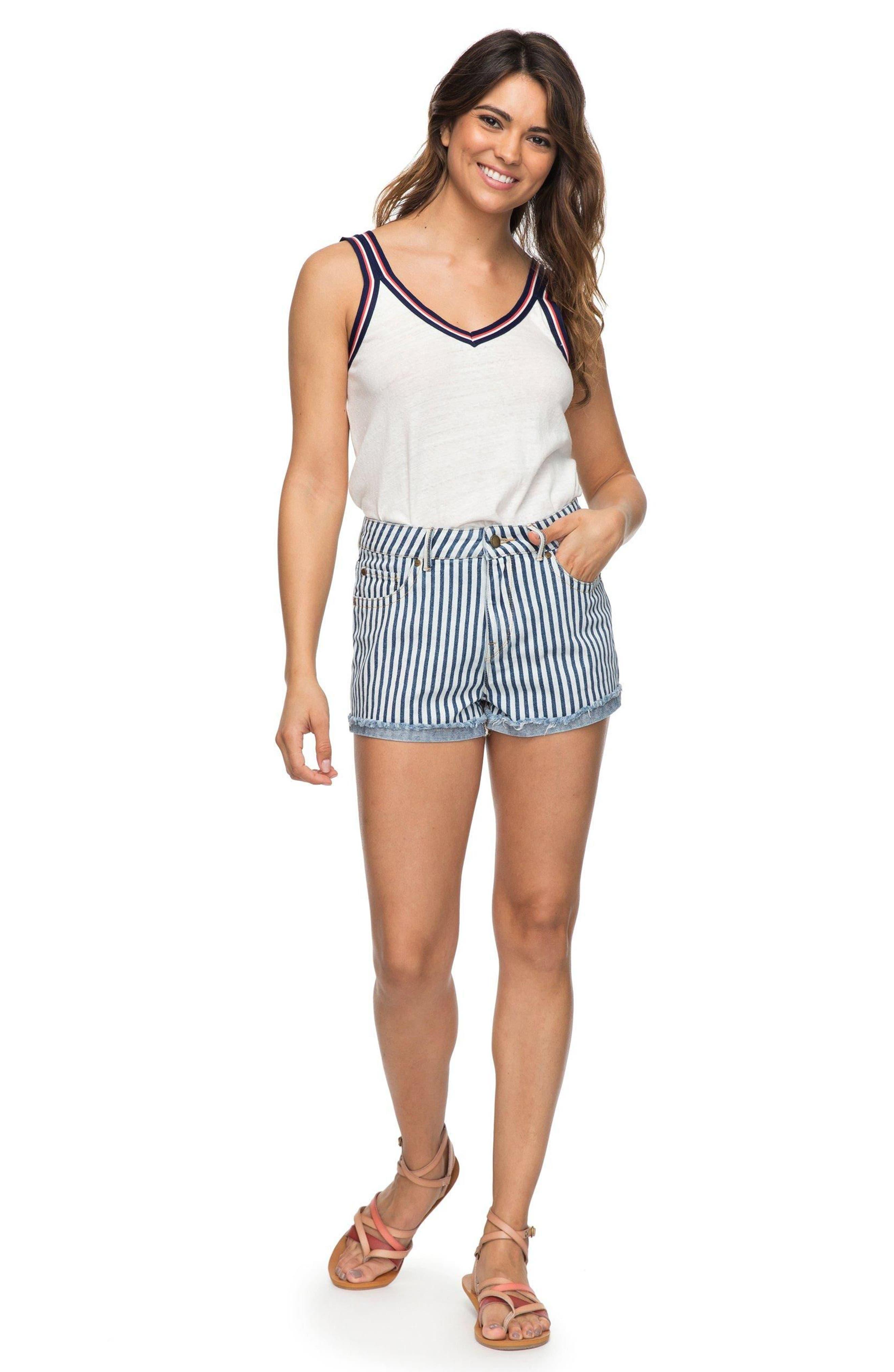 Holbrook Stripe Cotton Shorts,                             Alternate thumbnail 6, color,                             460