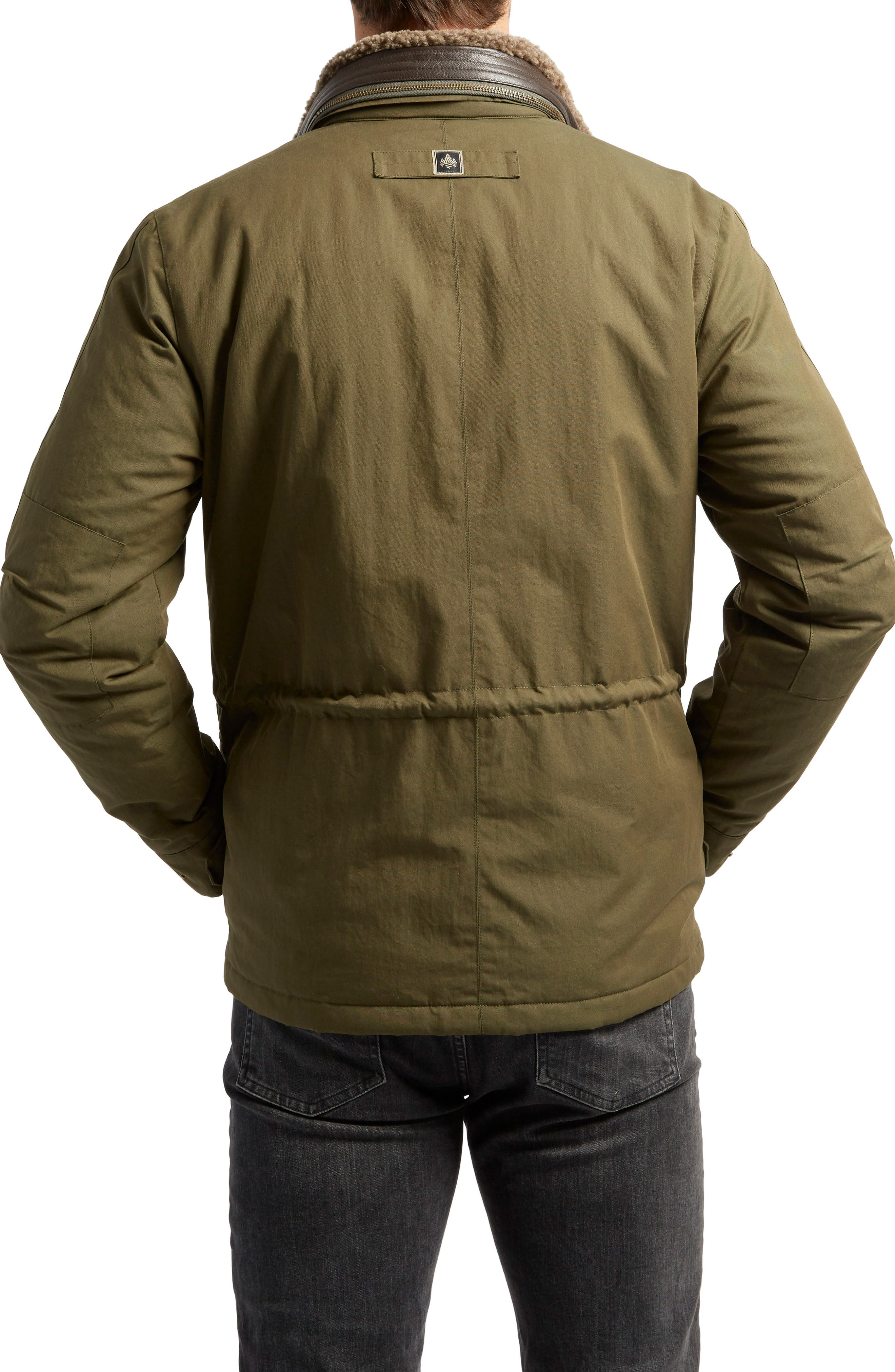 Flagler Heat System Field Jacket with Genuine Shearling Collar,                             Alternate thumbnail 2, color,                             319