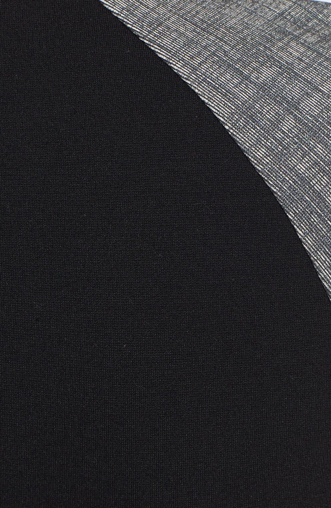 Croc Embossed Panel Punto Milano Sheath Dress,                             Alternate thumbnail 3, color,