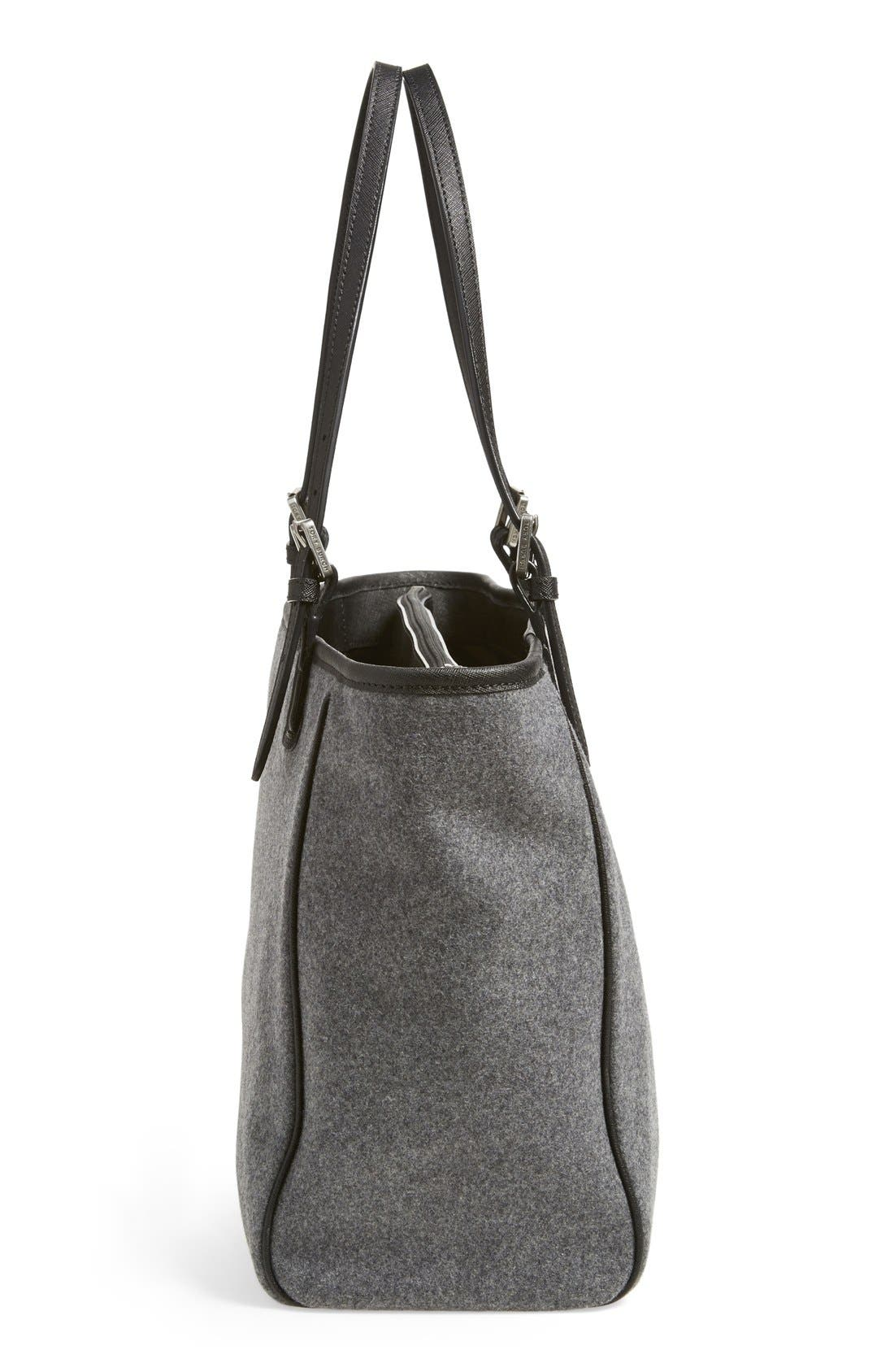 'York' Flannel Buckle Tote,                             Alternate thumbnail 3, color,                             020