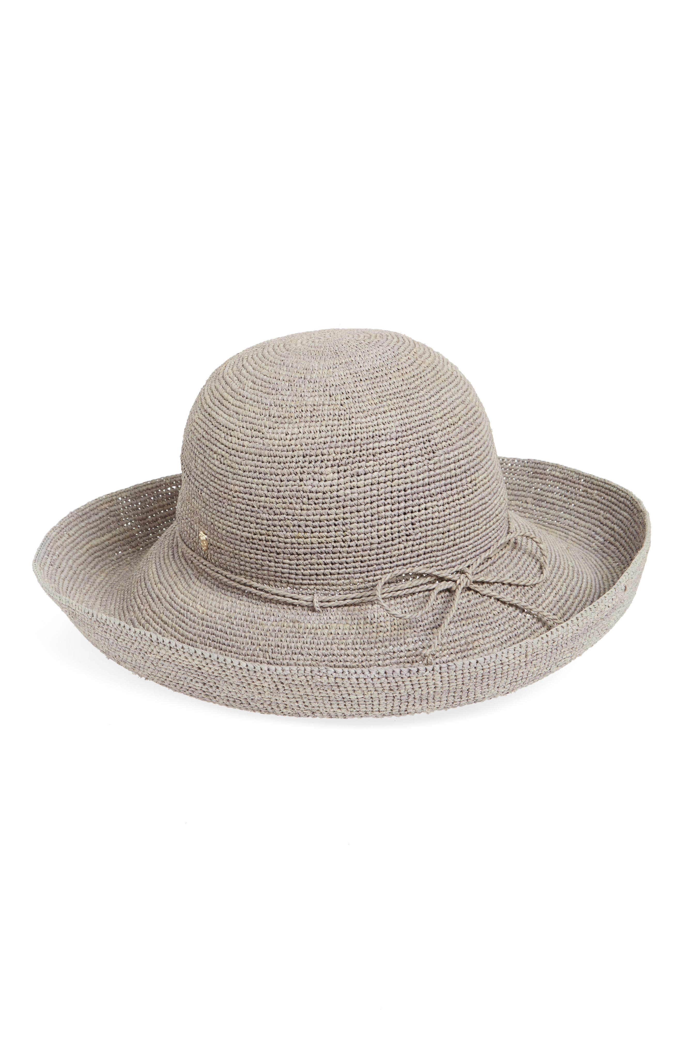 'Provence 12' Packable Raffia Hat,                         Main,                         color, 025