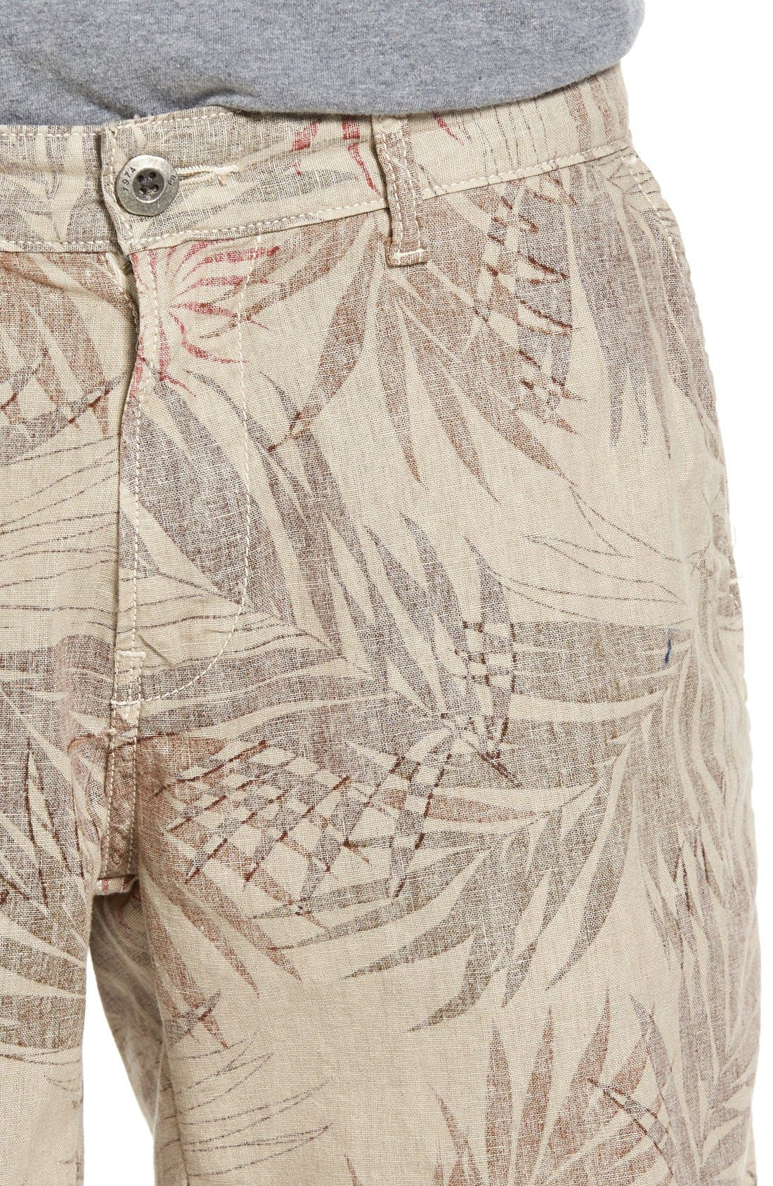 Rio Linen Shorts,                             Alternate thumbnail 4, color,                             280