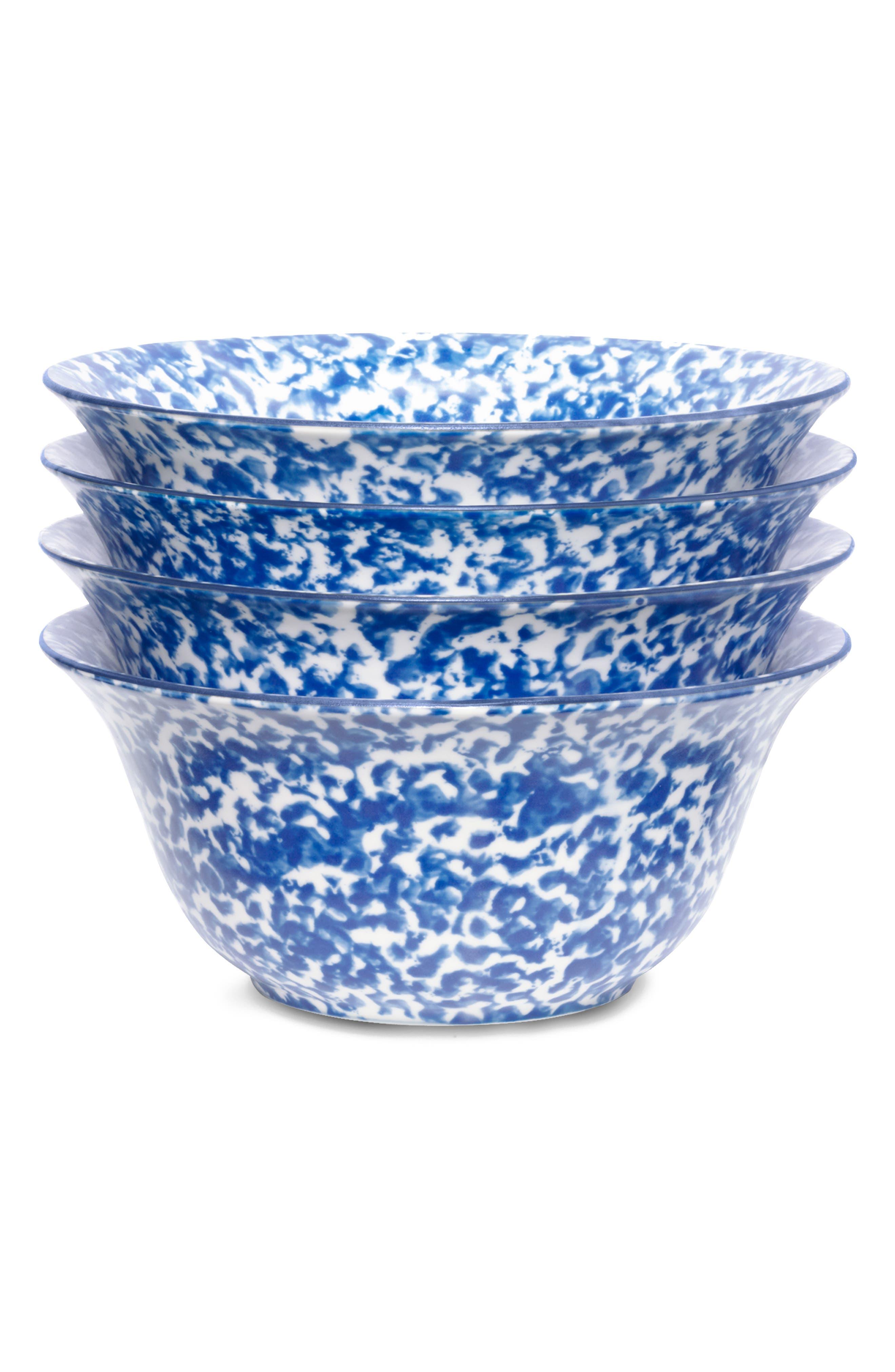 Set of 4 Spongeware Bowls,                             Alternate thumbnail 2, color,                             CLASSIC SPONGE