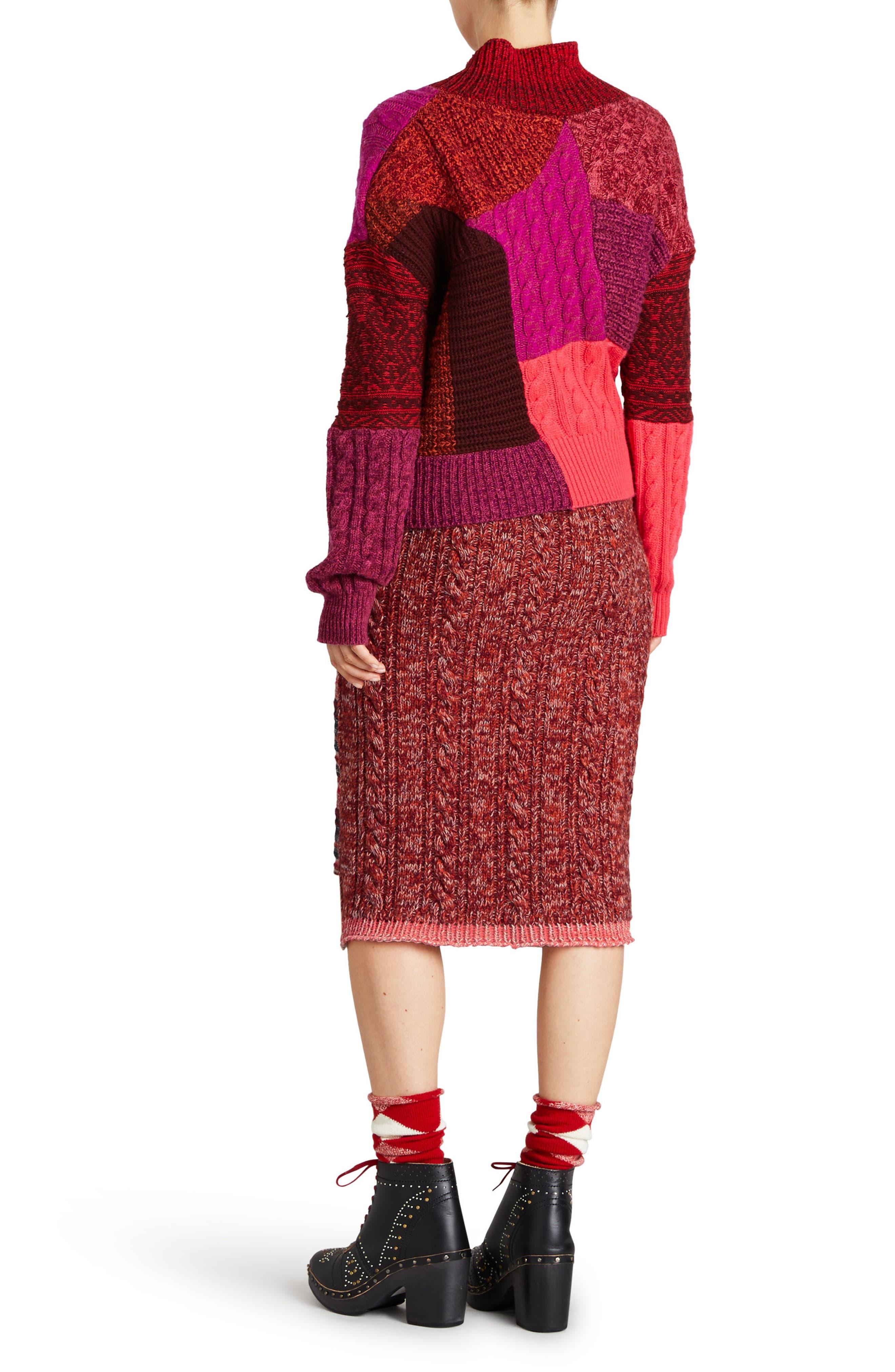 Knit Wool Blend Pencil Skirt,                             Alternate thumbnail 7, color,                             600