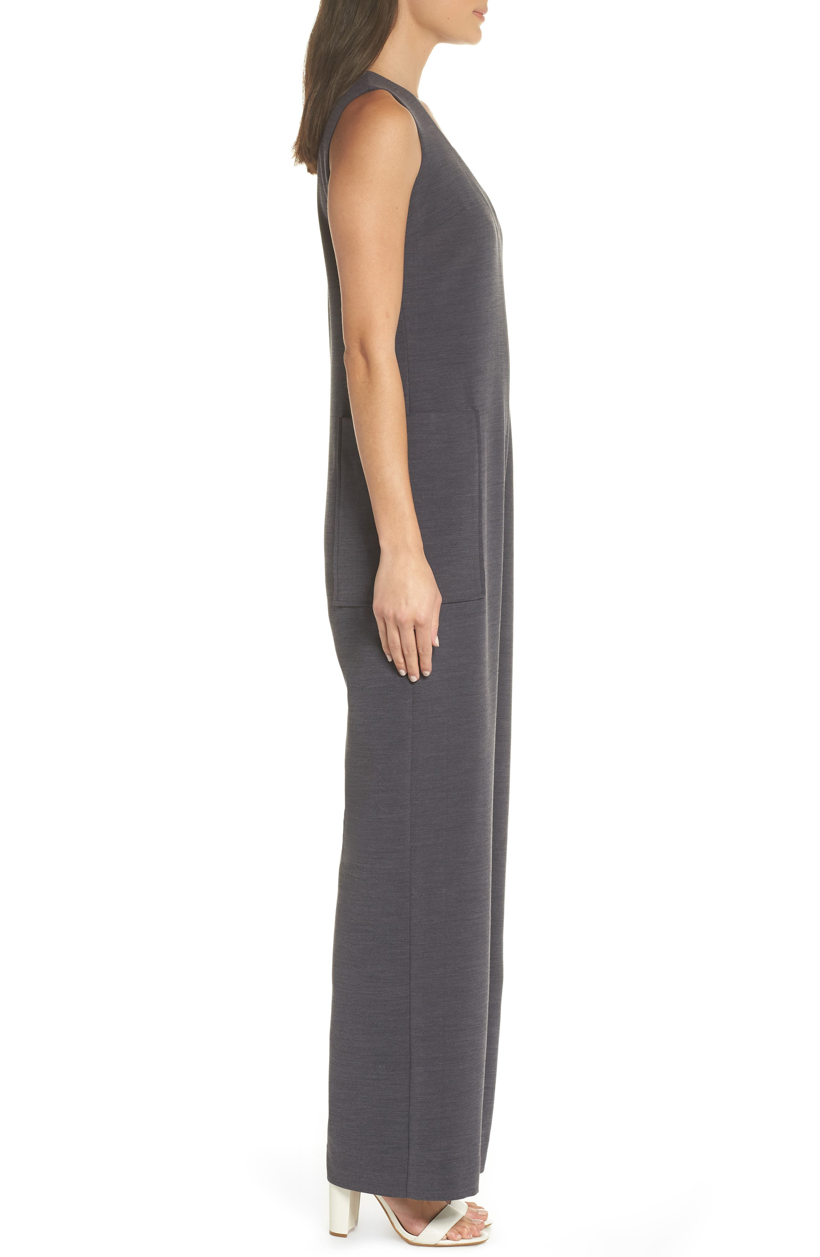 Harbor V-Neck Jumpsuit,                             Alternate thumbnail 3, color,                             020