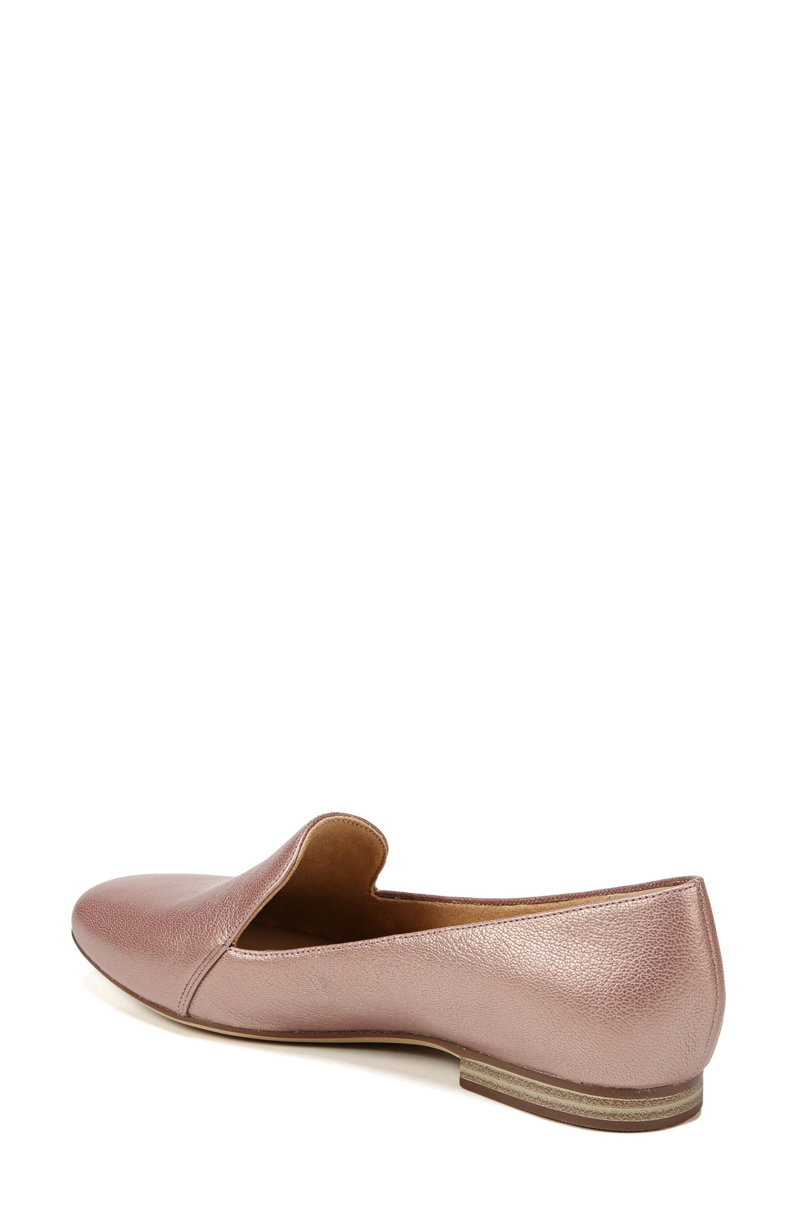 Emiline Flat Loafer,                             Alternate thumbnail 2, color,                             ROSE GOLD LEATHER
