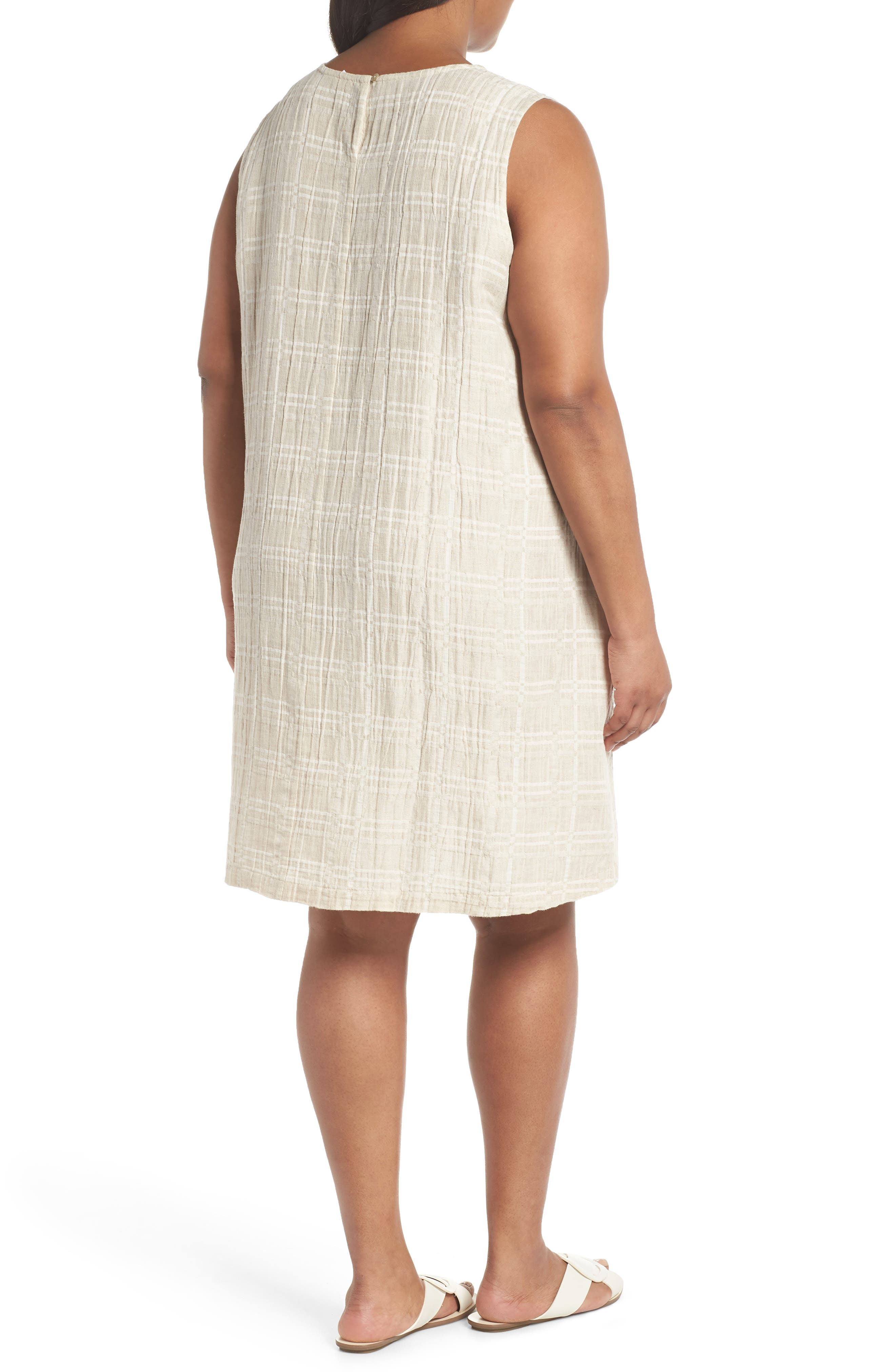 Organic Cotton & Linen Shift Dress,                             Alternate thumbnail 2, color,                             NATURAL