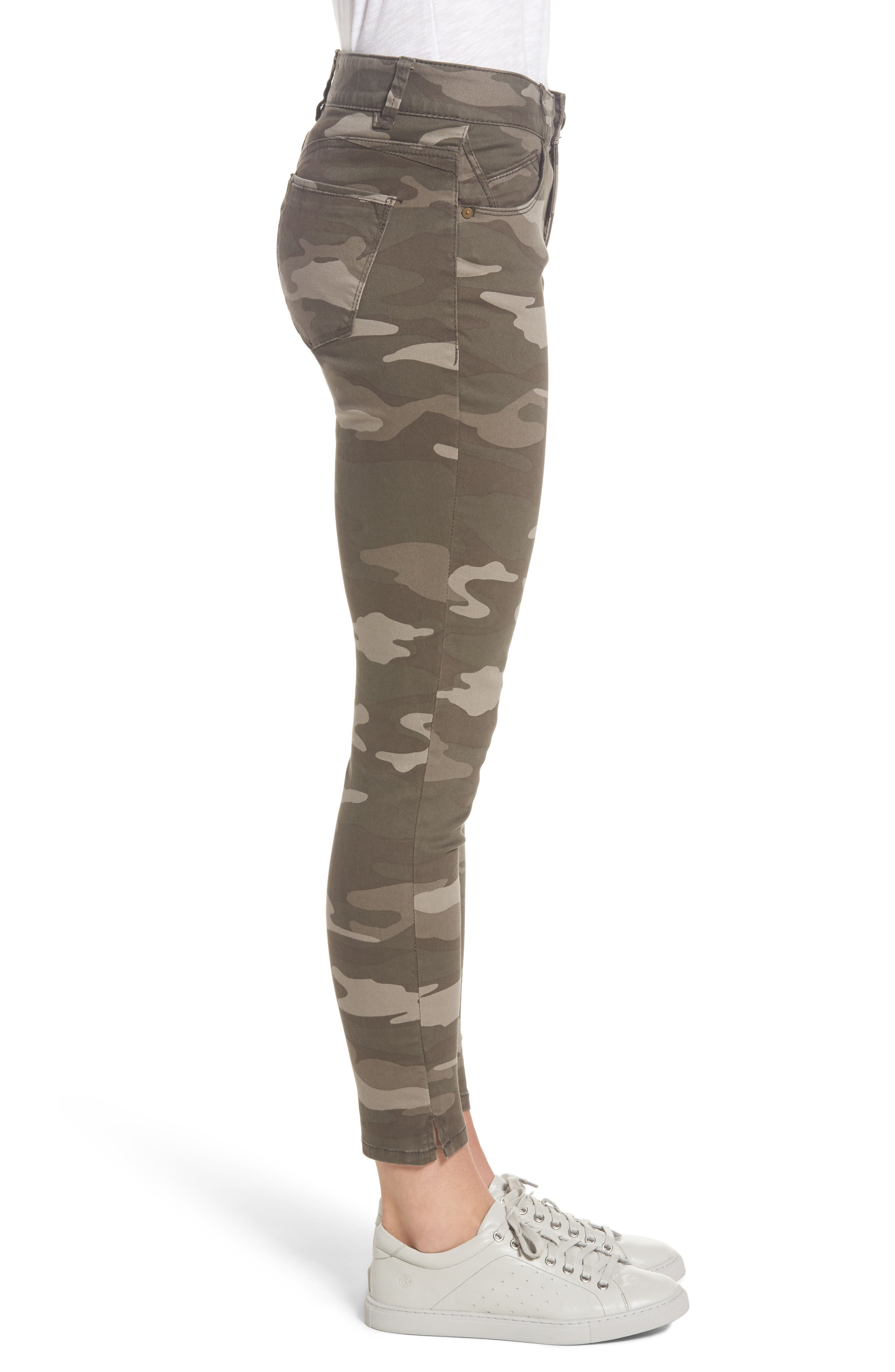 Ab-solution Camo Stretch Ankle Skinny Jeans,                             Alternate thumbnail 3, color,                             201