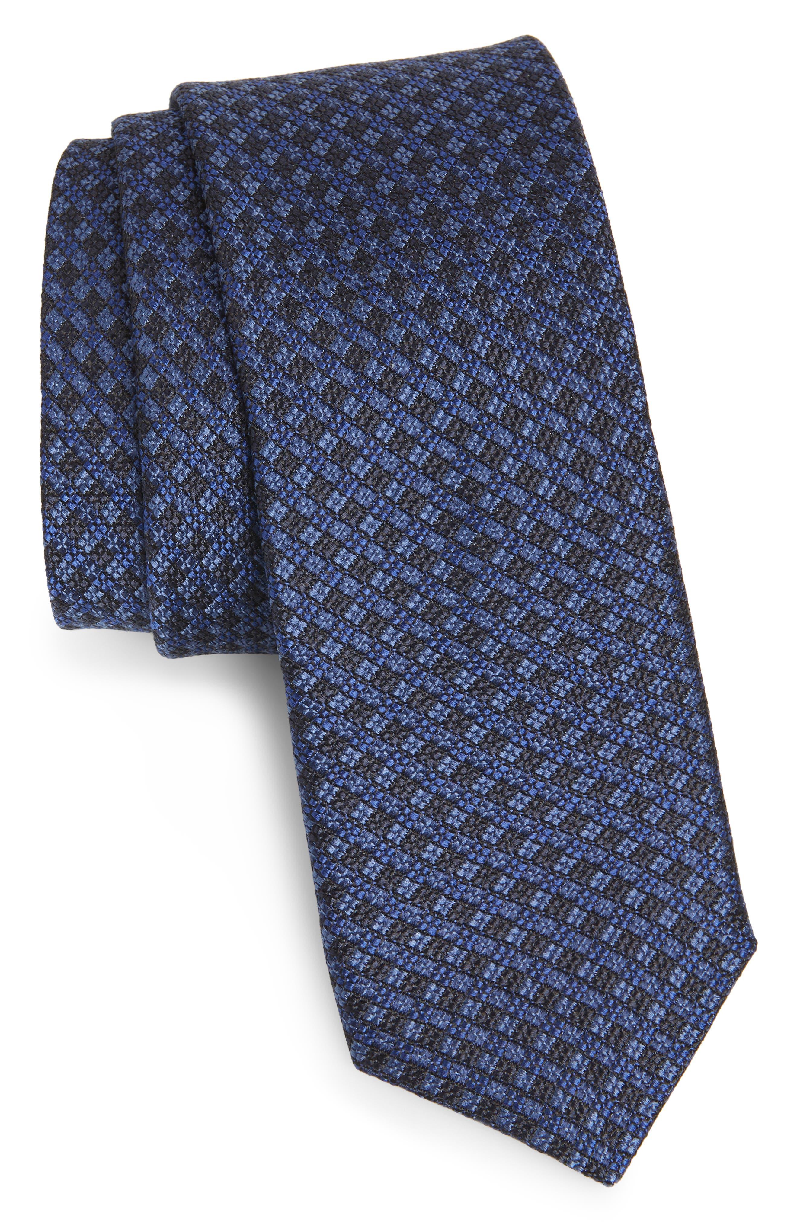 Check Silk Tie,                         Main,                         color, 400