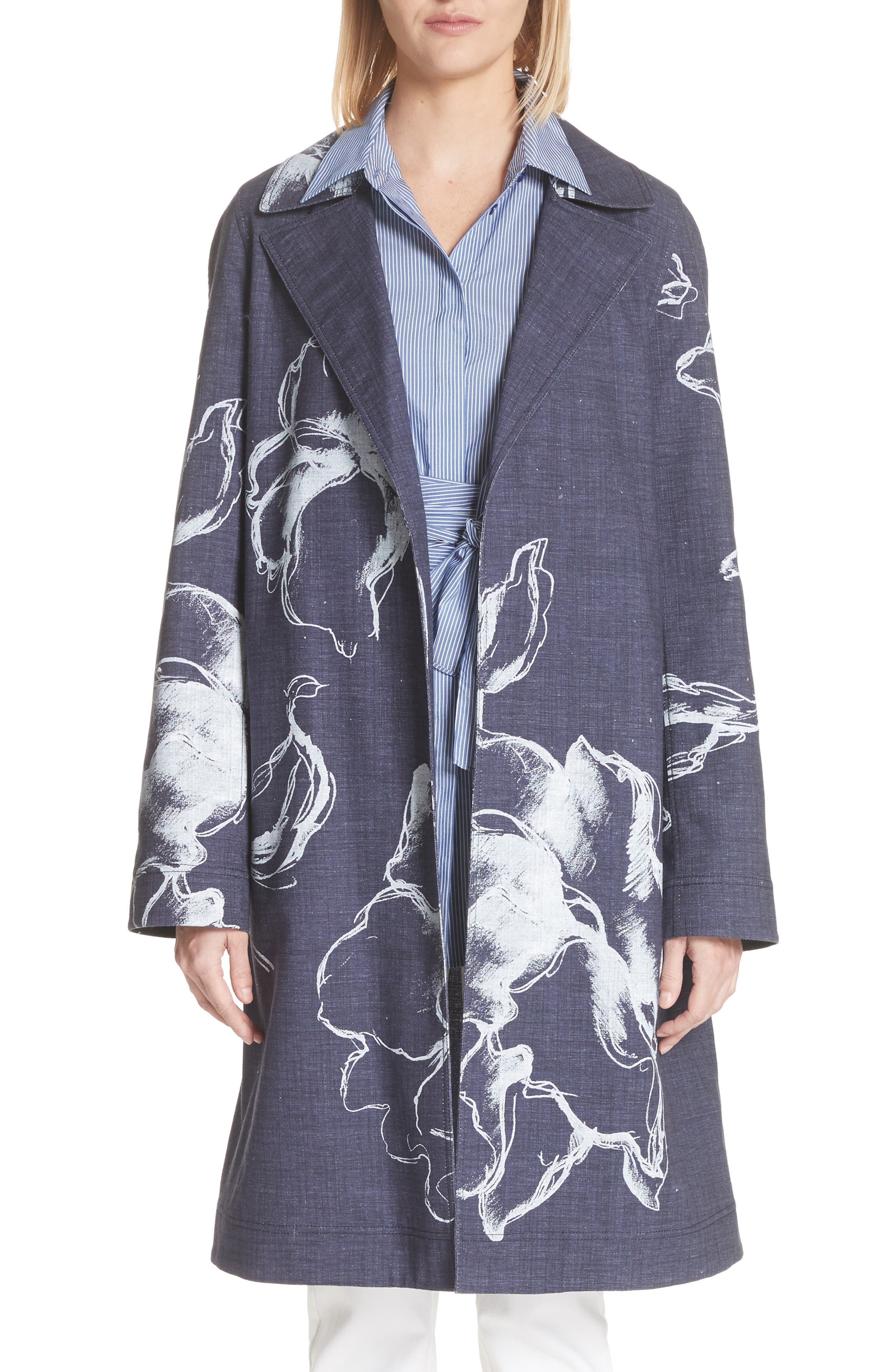 Dina Desert Bloom Trench Coat,                         Main,                         color,