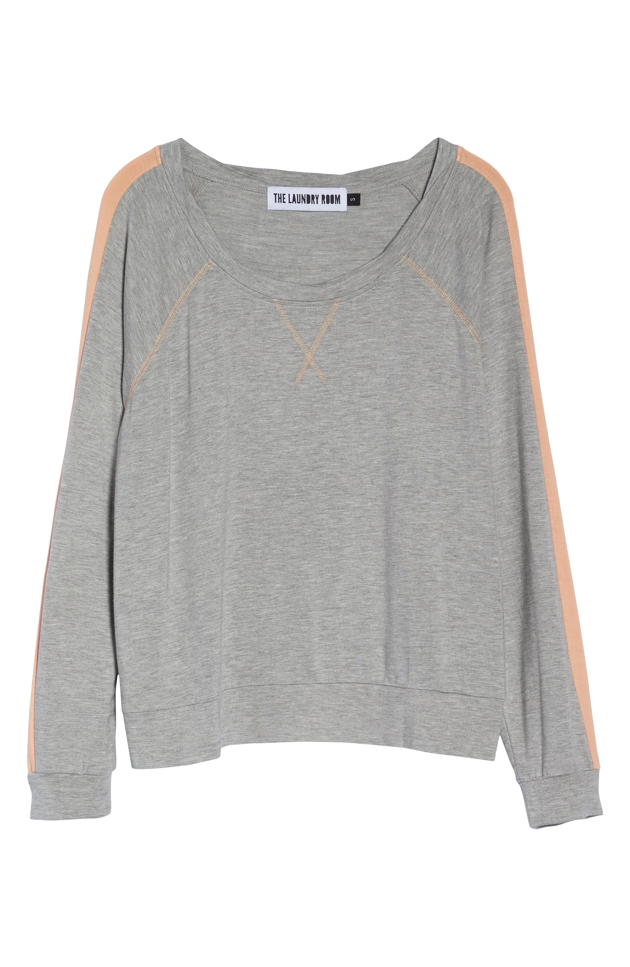 Elevens Sweatshirt,                             Alternate thumbnail 6, color,                             HEATHER / PEACH