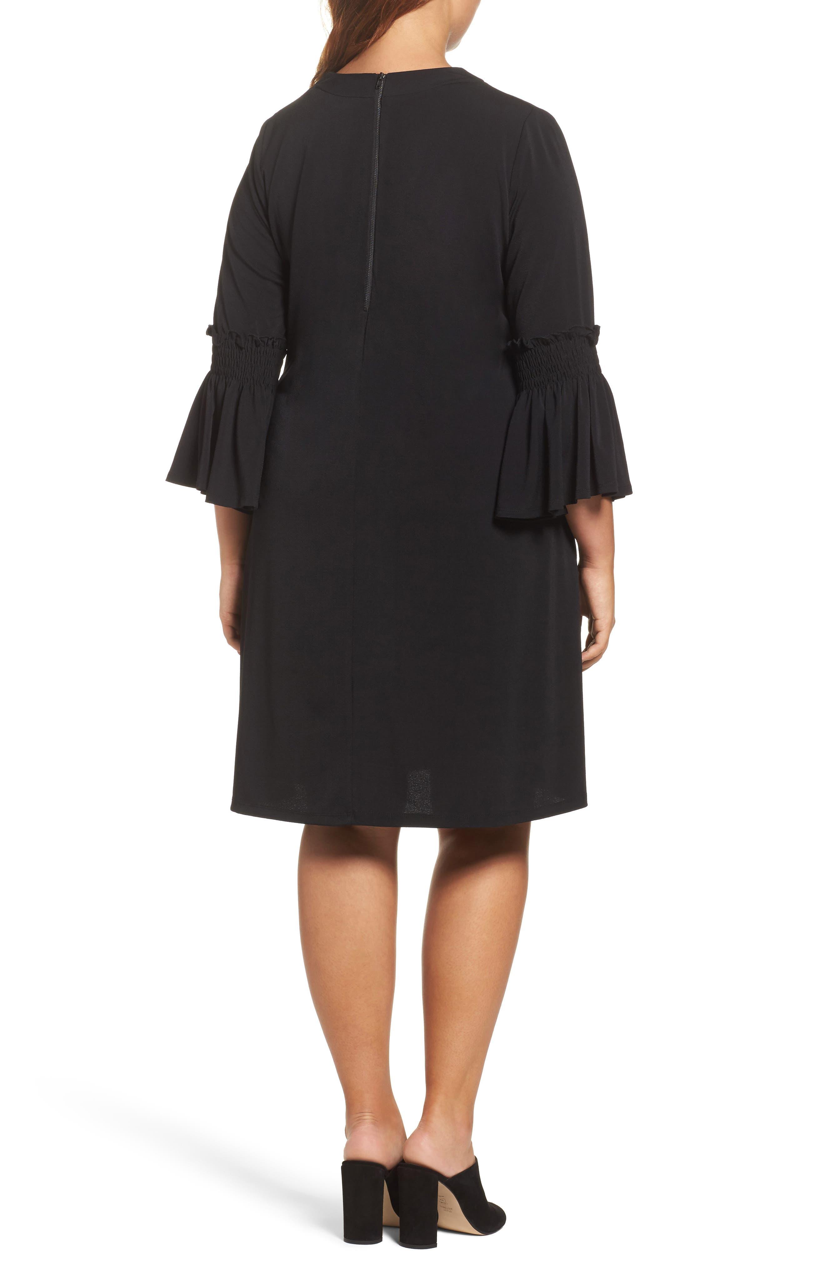 Bell Sleeve A-Line Choker Dress,                             Alternate thumbnail 2, color,                             001