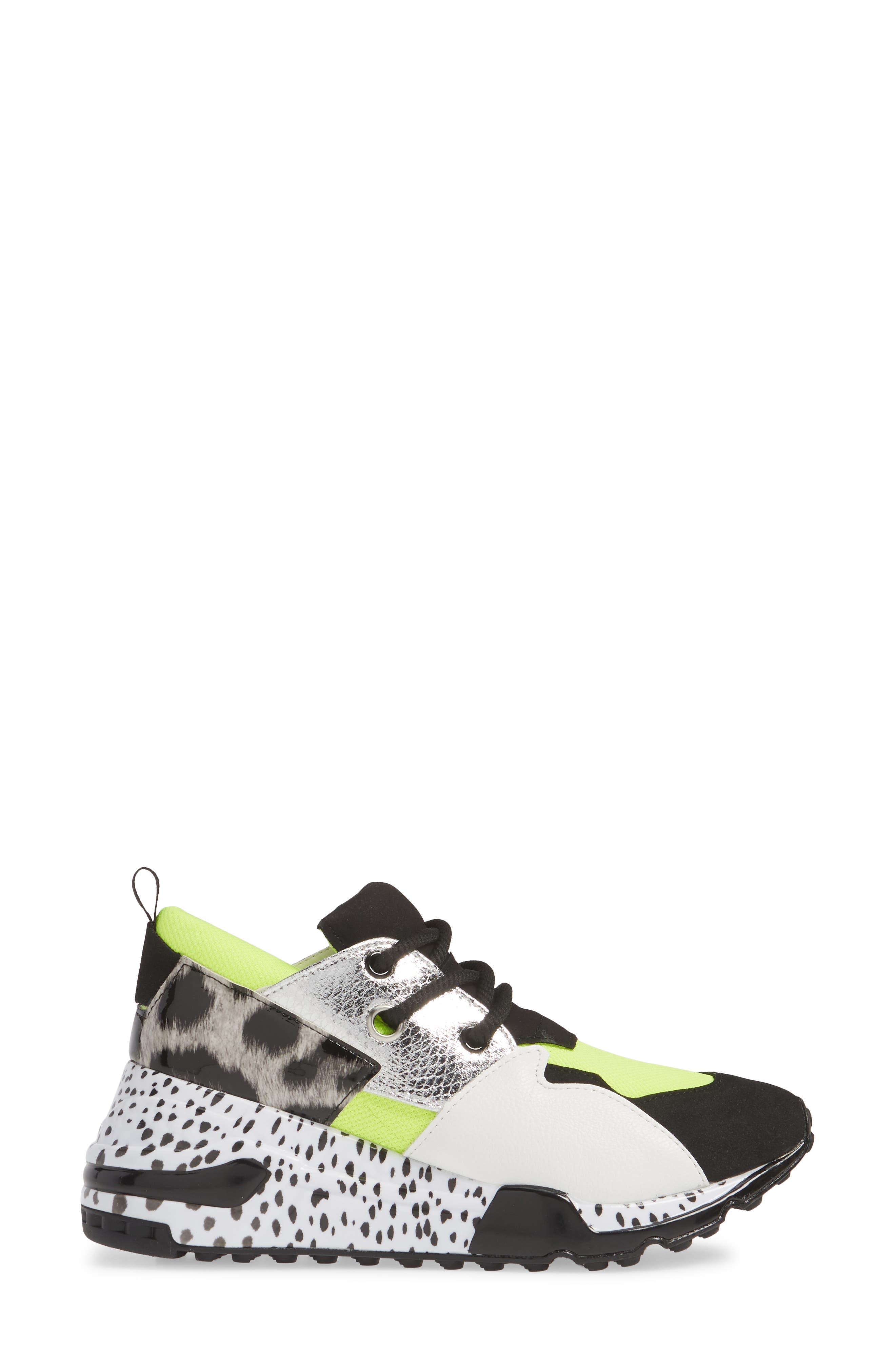Cliff Sneaker,                             Alternate thumbnail 3, color,                             NEON GREEN