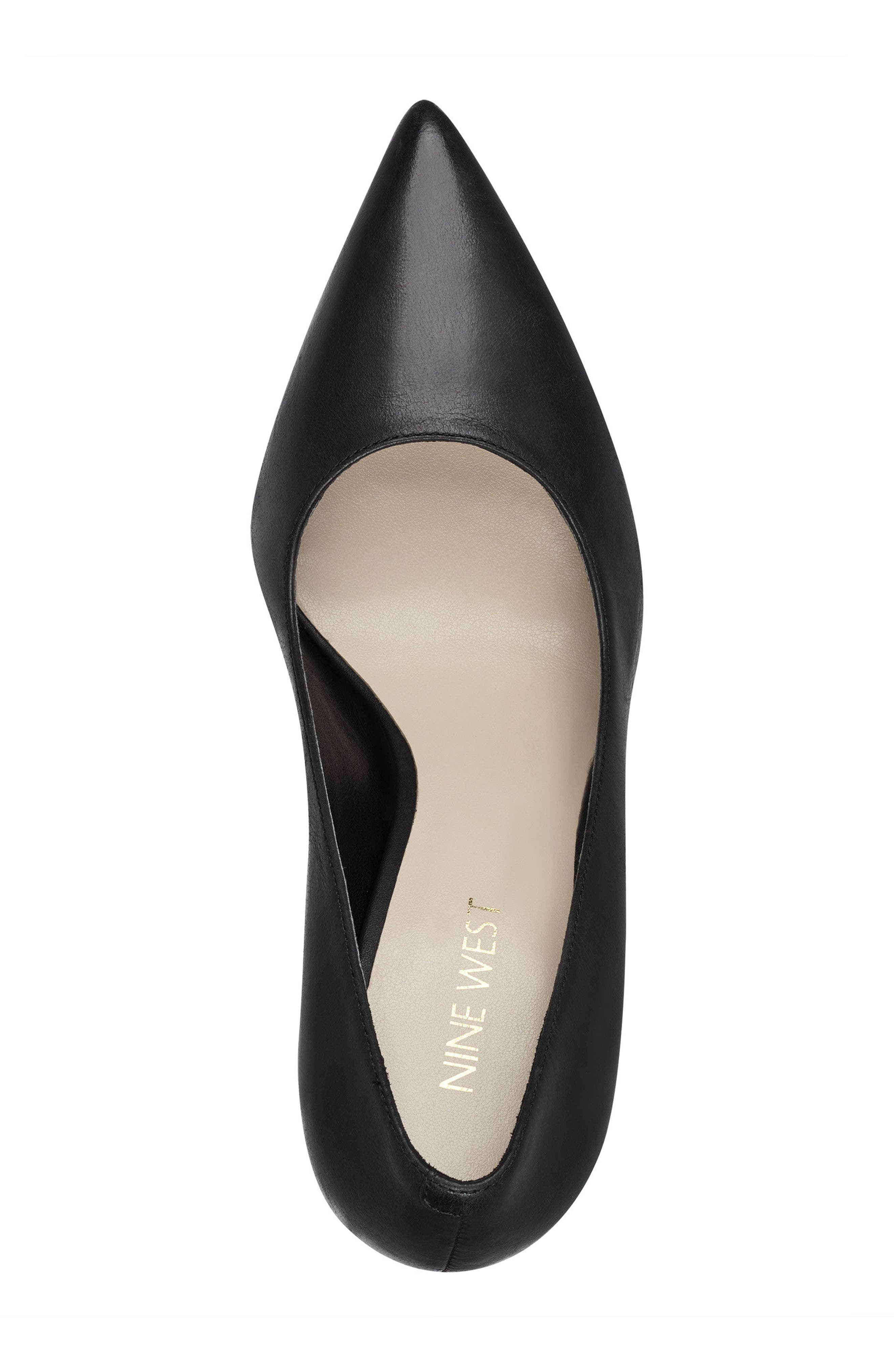 NINE WEST,                             Henra Pointy Toe Pump,                             Alternate thumbnail 5, color,                             001