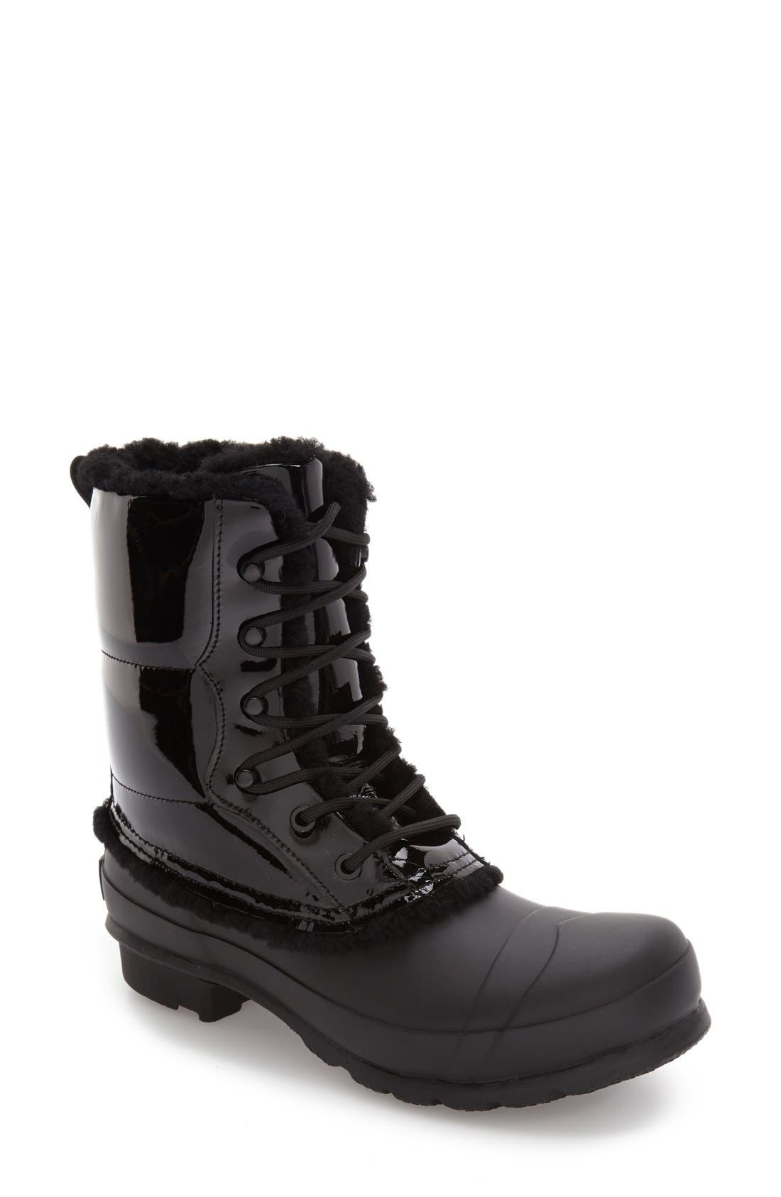 Original Genuine Shearling Lined Waterproof Boot,                             Main thumbnail 1, color,                             001
