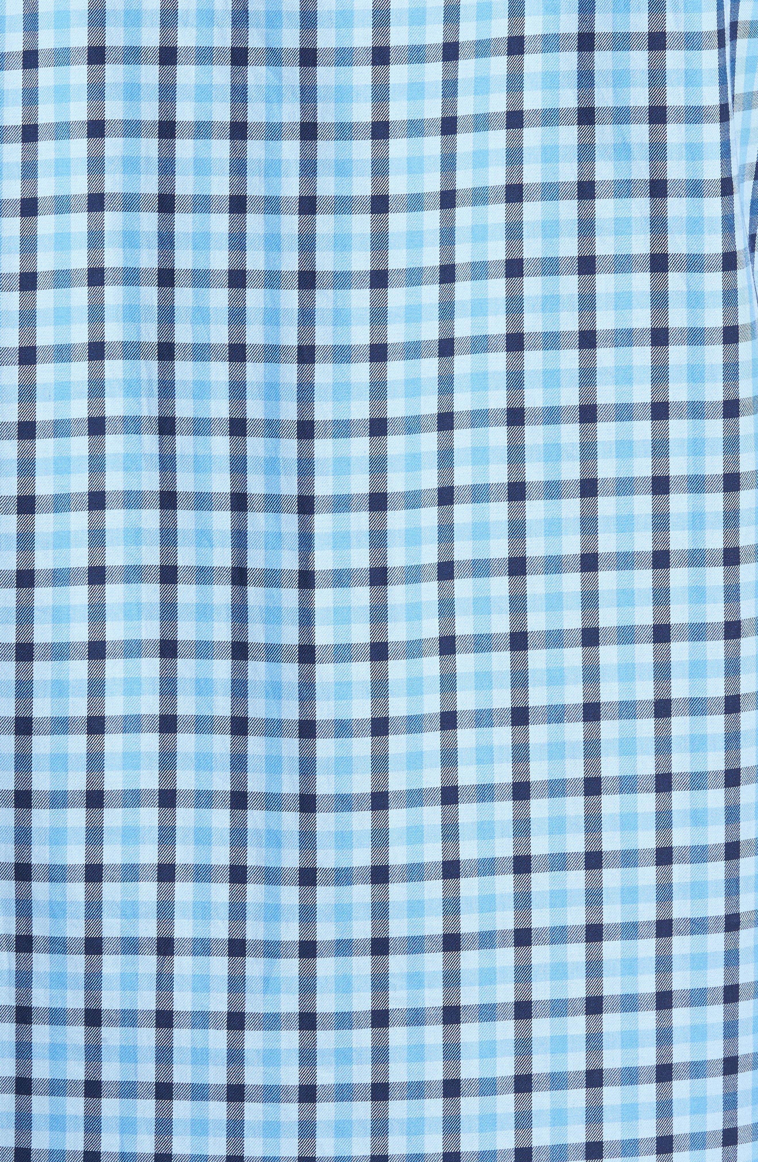 Benton Check Sport Shirt,                             Alternate thumbnail 5, color,