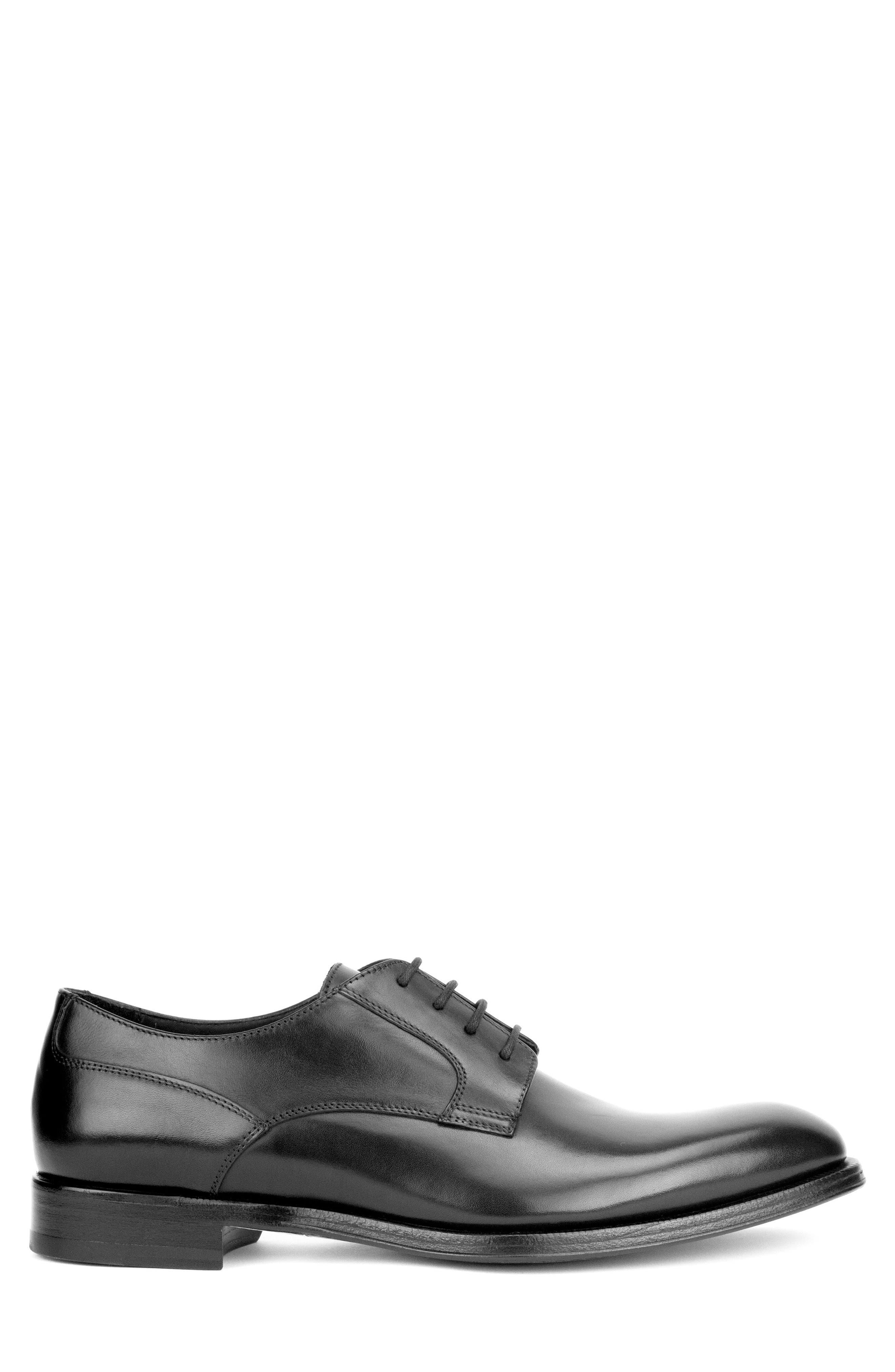 Devin Plain Toe Derby,                             Alternate thumbnail 3, color,                             BLACK