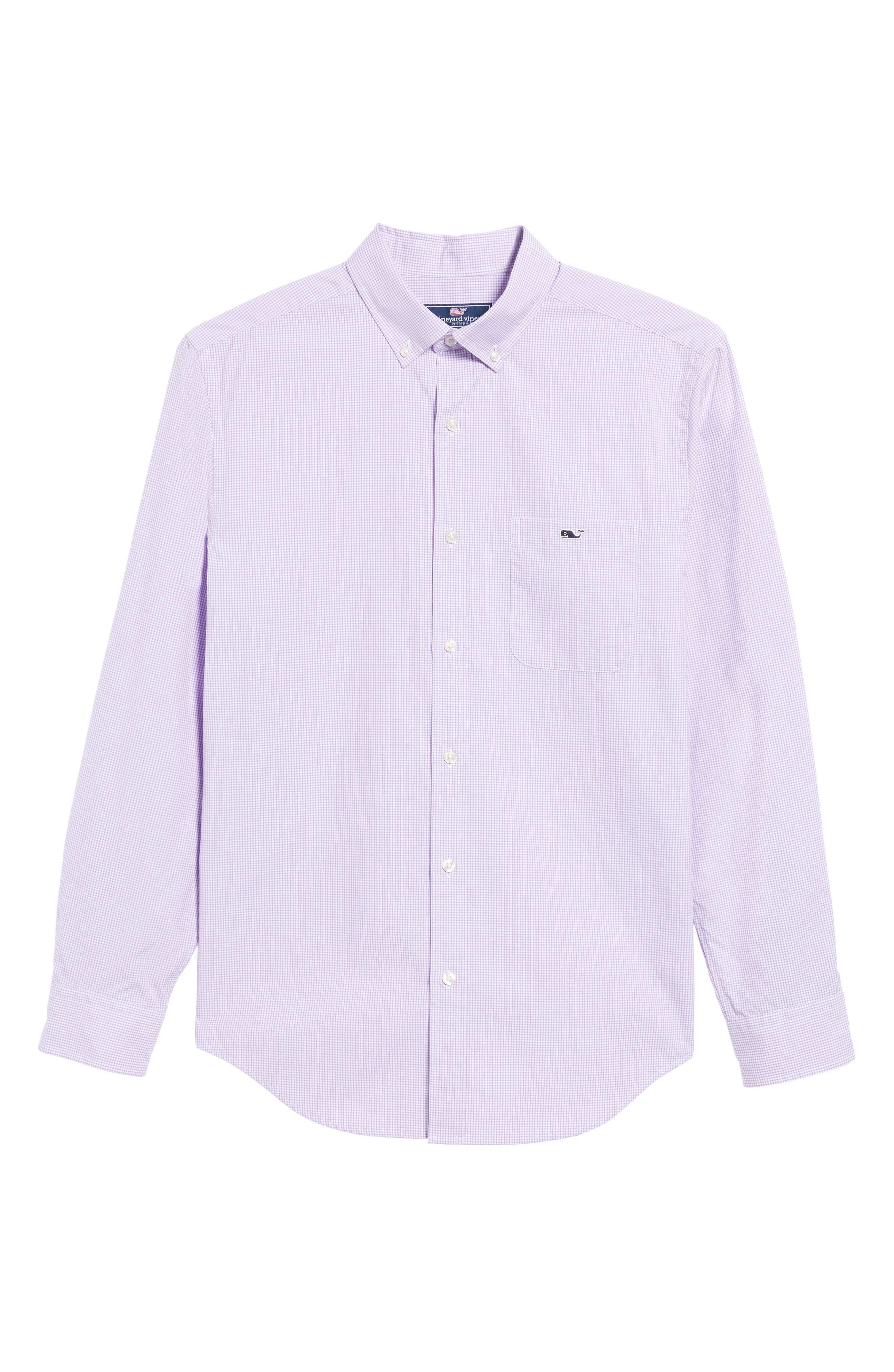 Seaboard Classic Fit Gingham Sport Shirt,                             Alternate thumbnail 6, color,