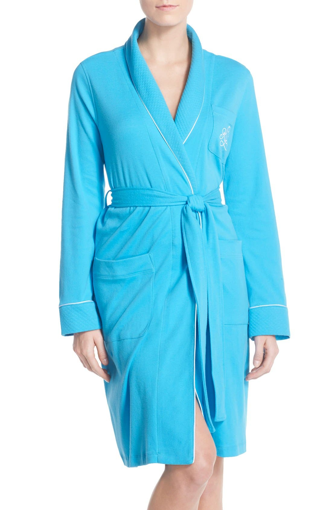 Quilted Collar Robe,                             Main thumbnail 9, color,