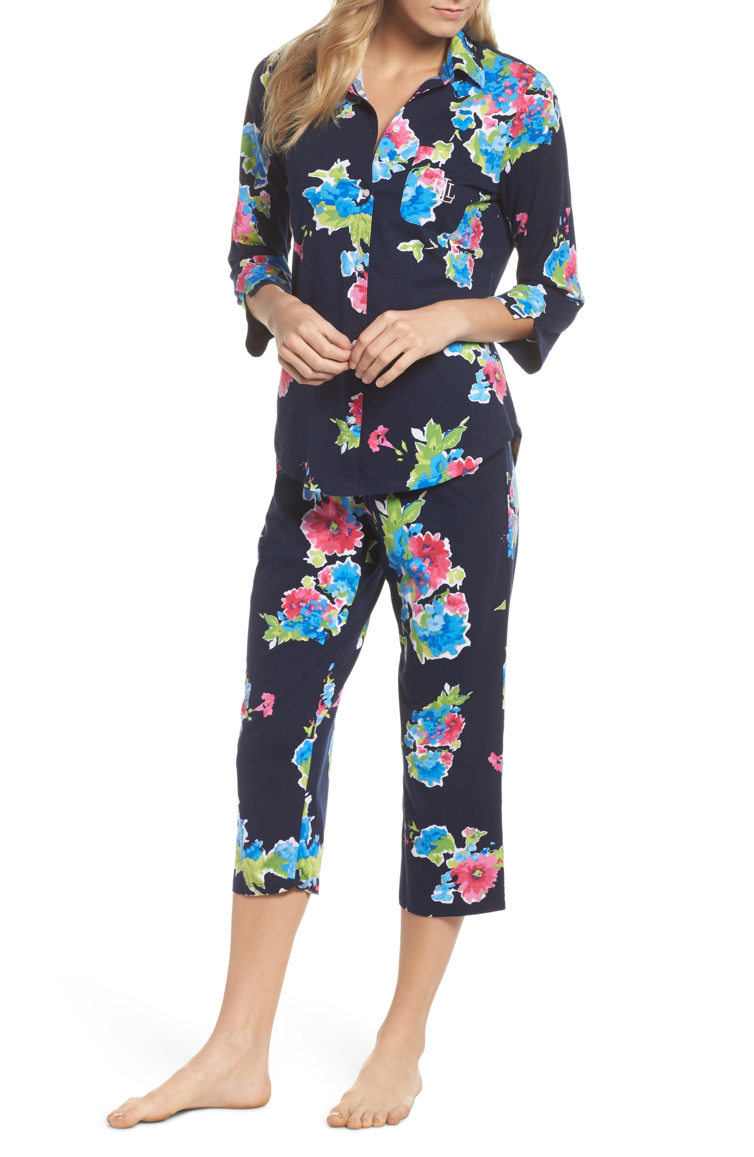 Crop Pajamas,                             Main thumbnail 1, color,