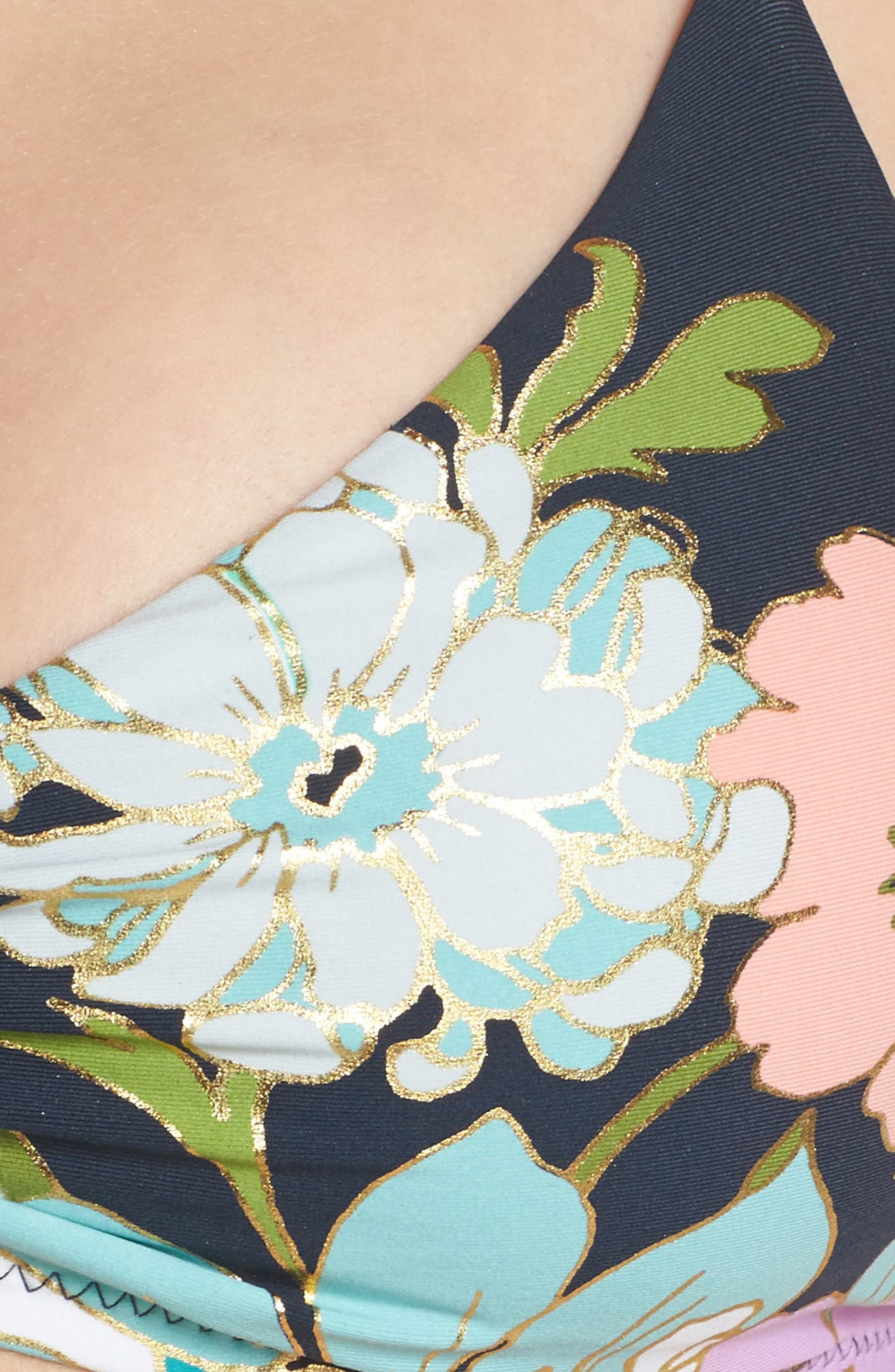Royal Botanical Bikini Top,                             Alternate thumbnail 6, color,