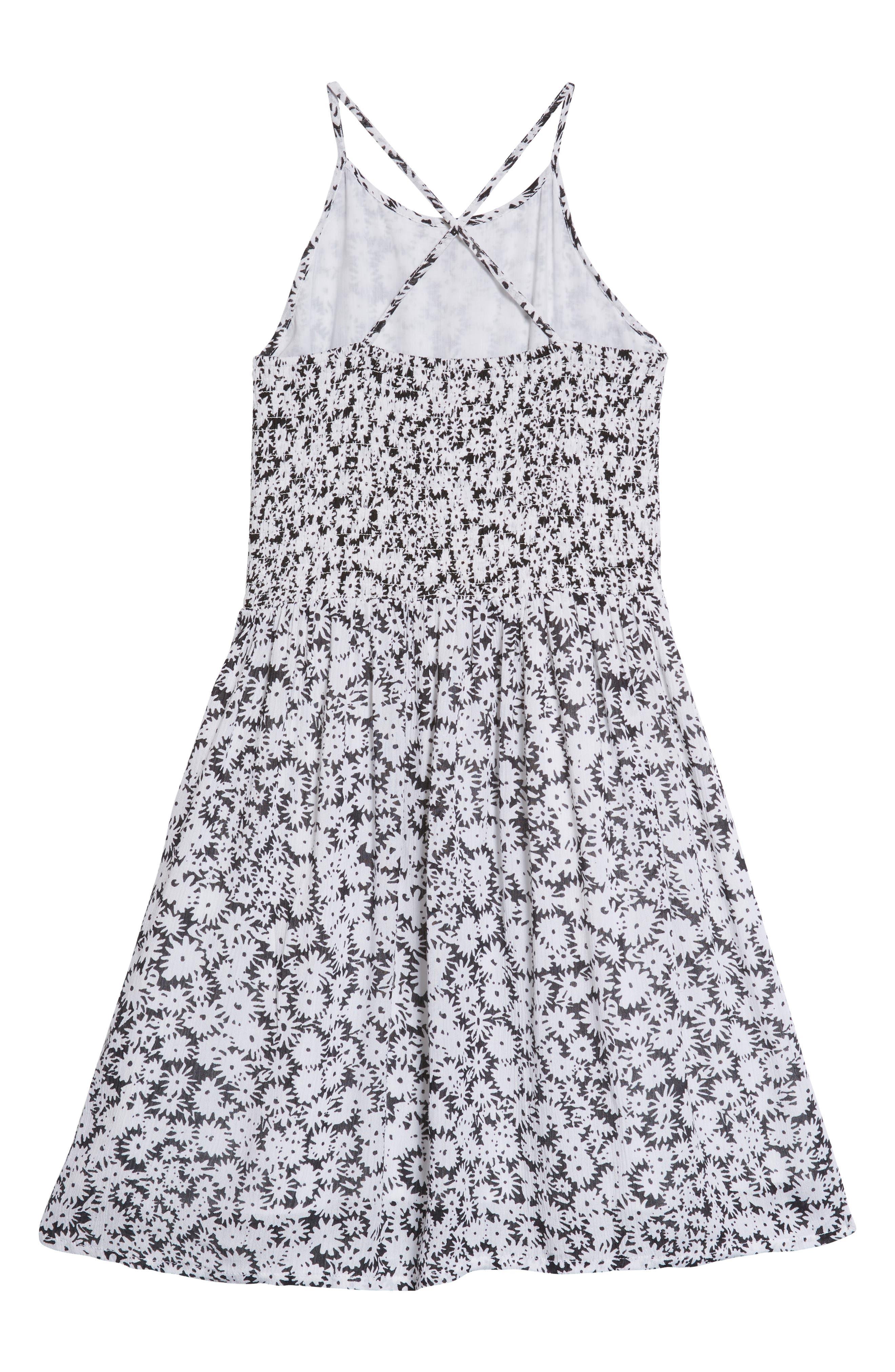 Smocked Dress,                             Alternate thumbnail 2, color,                             001