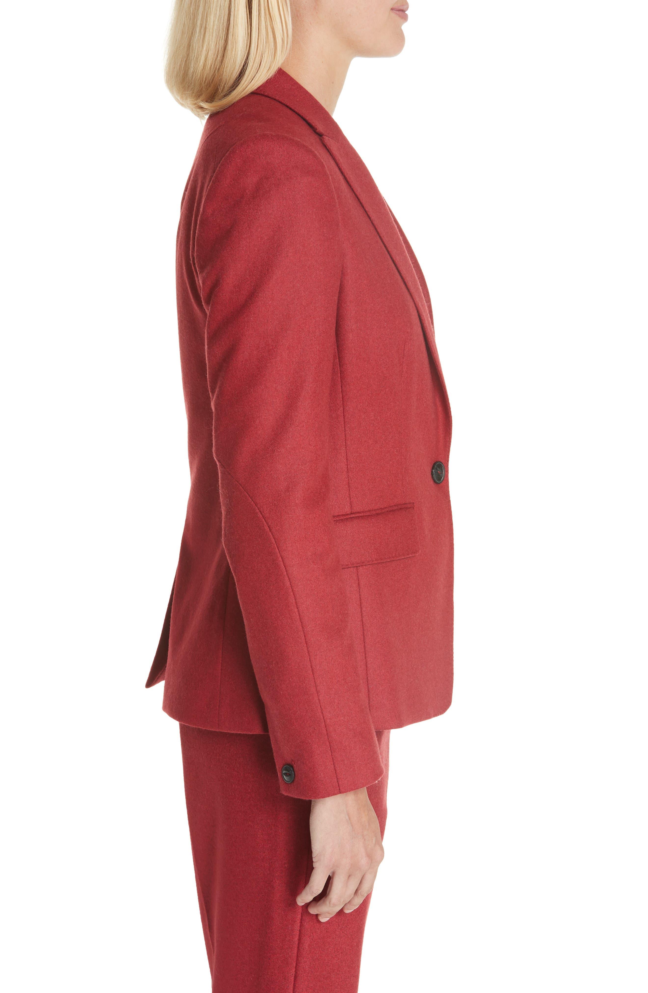 Lexington Wool Blend Blazer,                             Alternate thumbnail 2, color,                             RED MELANGE