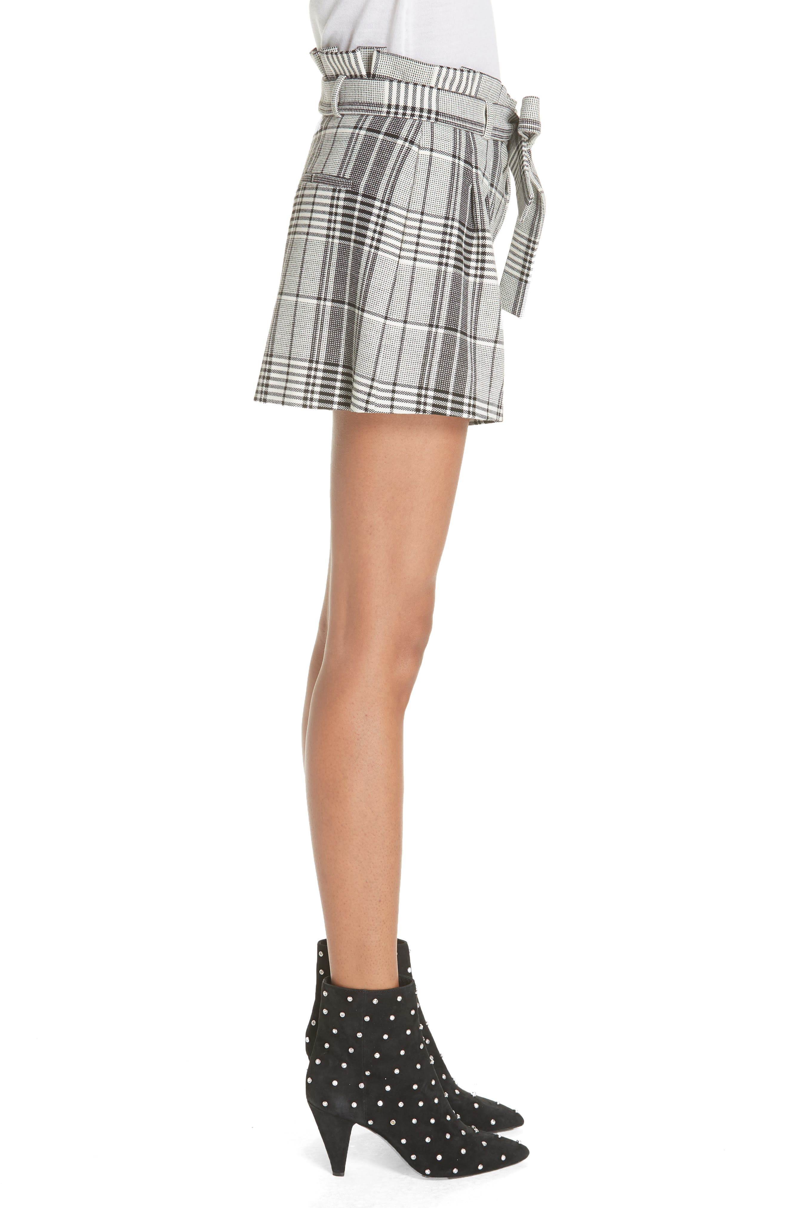 Laurine Paperbag Shorts,                             Alternate thumbnail 3, color,                             009