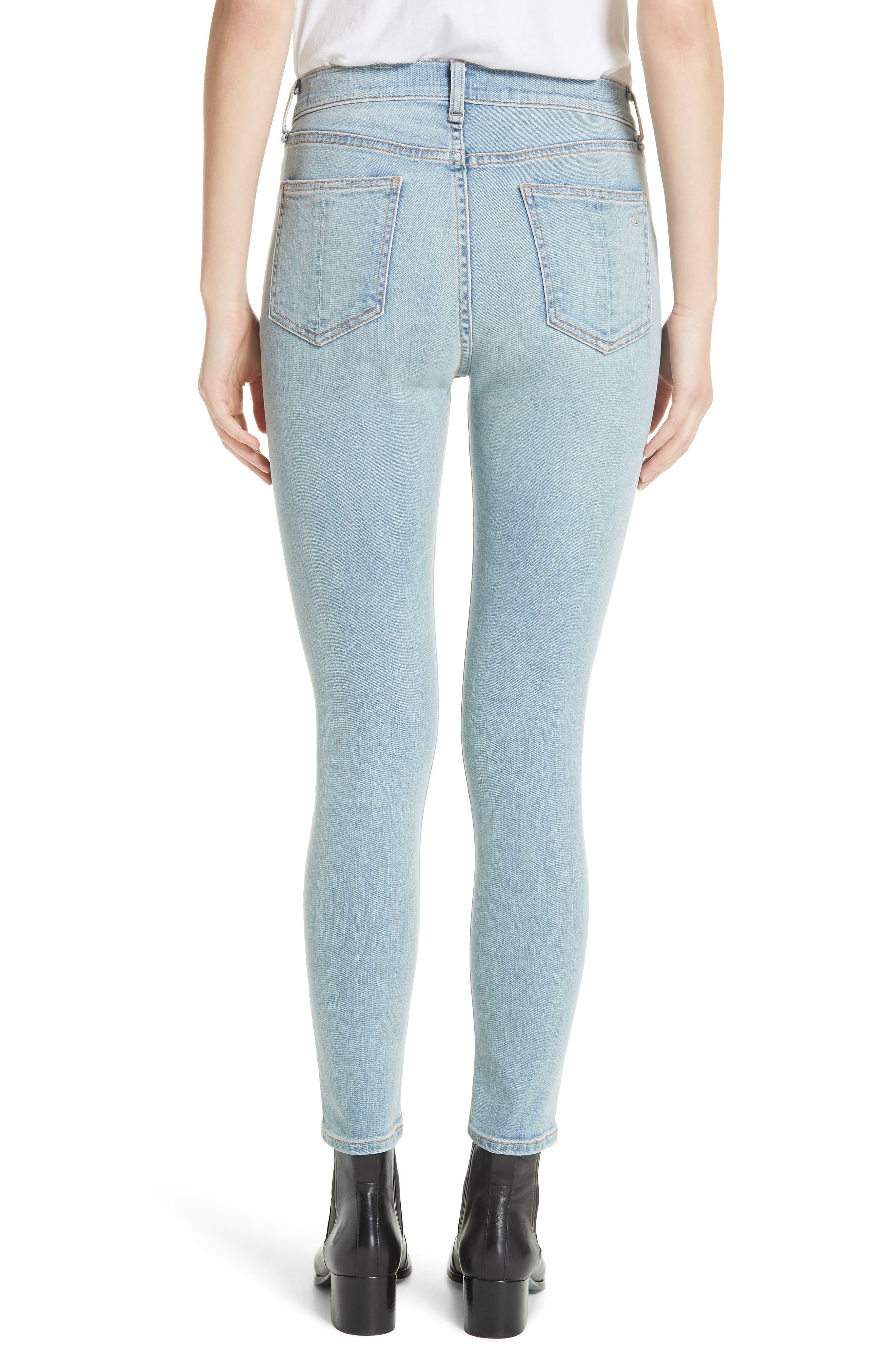 High Waist Ankle Skinny Jeans,                             Alternate thumbnail 2, color,                             NORLET