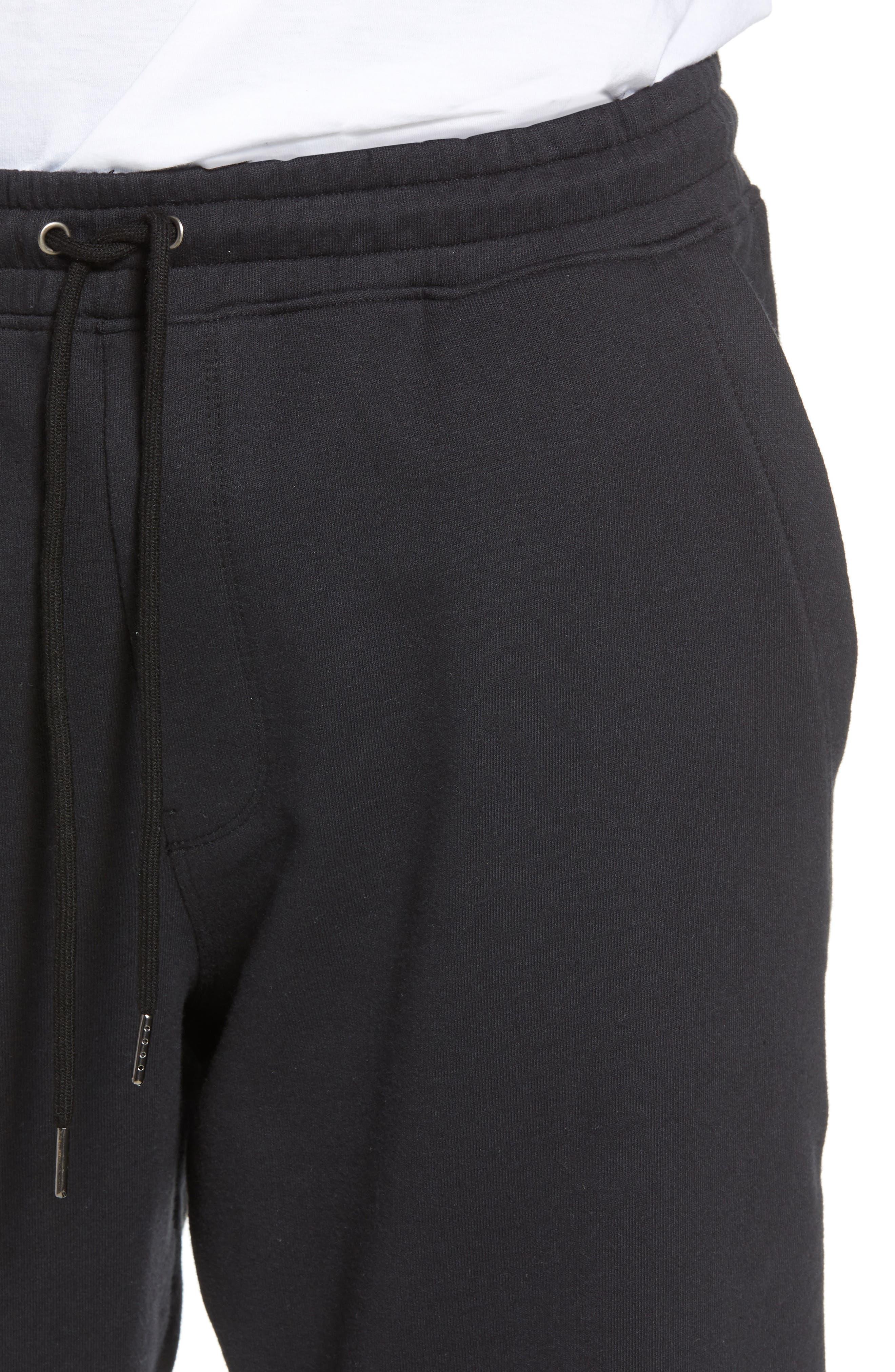 Cropped Sweatpants,                             Alternate thumbnail 4, color,                             001