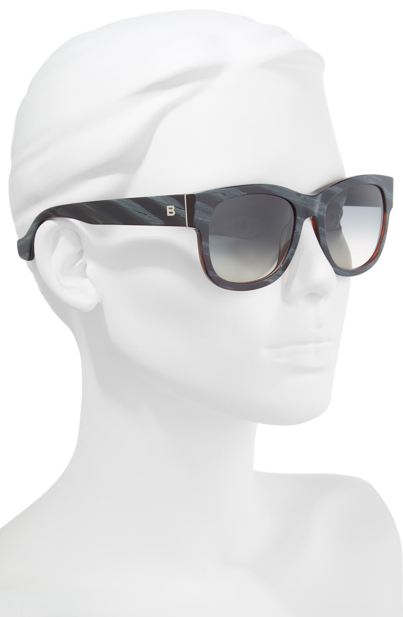 54mm Retro Sunglasses,                             Alternate thumbnail 2, color,                             400