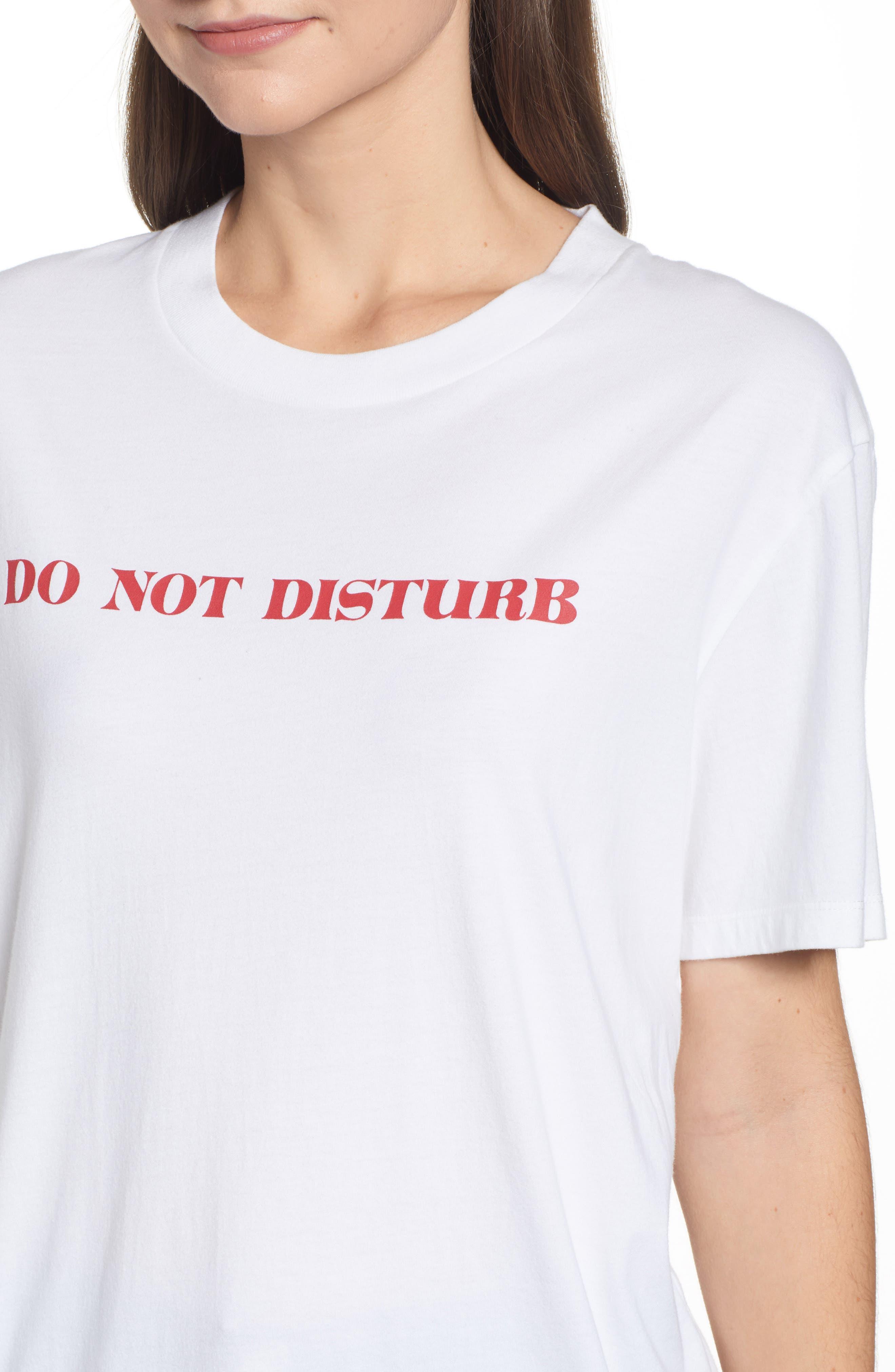 Do Not Disturb Tee,                             Alternate thumbnail 4, color,                             WHITE