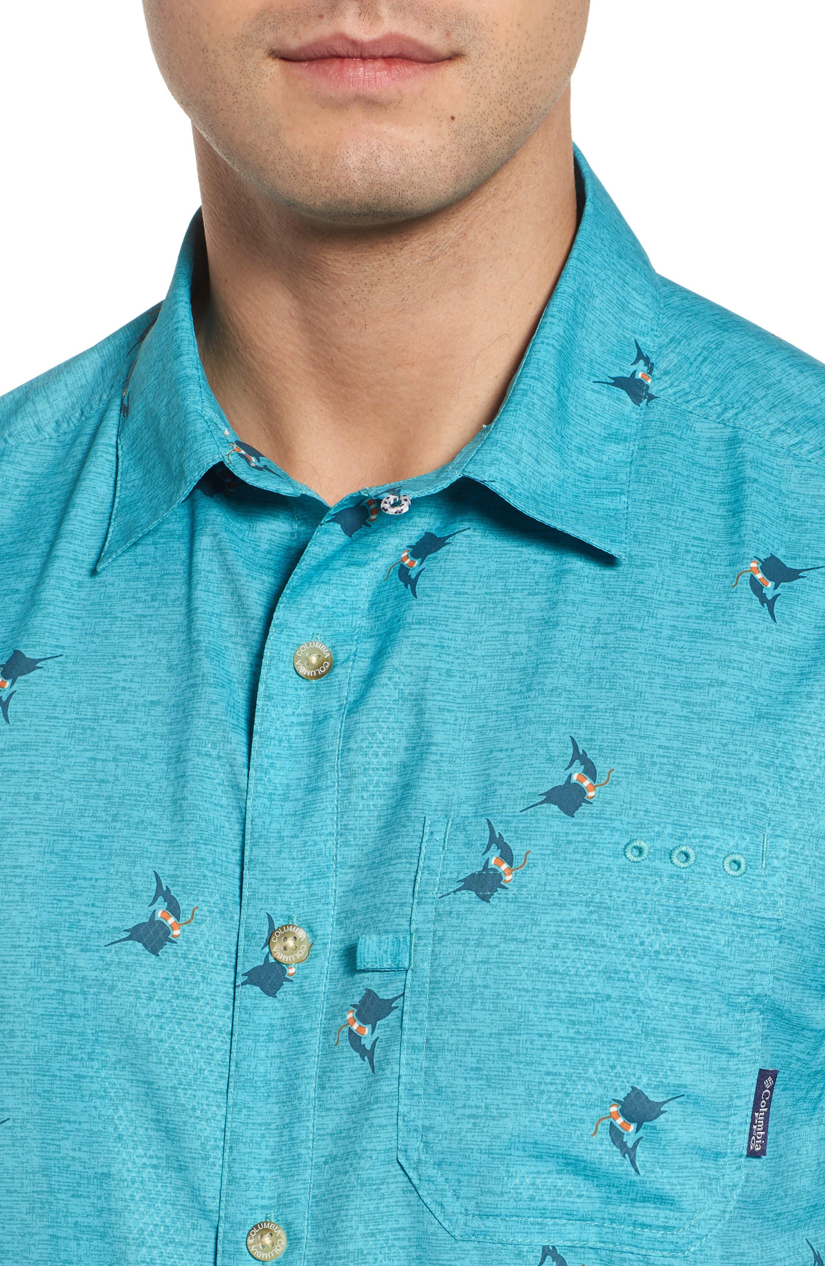 Super Slack Tide Patterned Woven Shirt,                             Alternate thumbnail 18, color,
