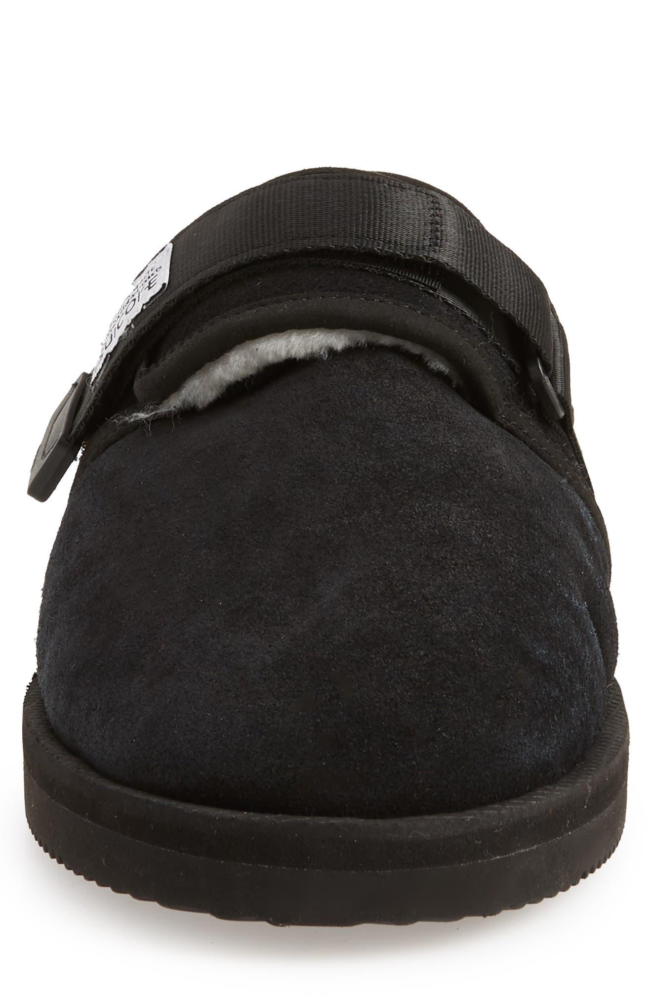 Zavo Genuine Shearling Slipper,                             Alternate thumbnail 4, color,                             BLACK