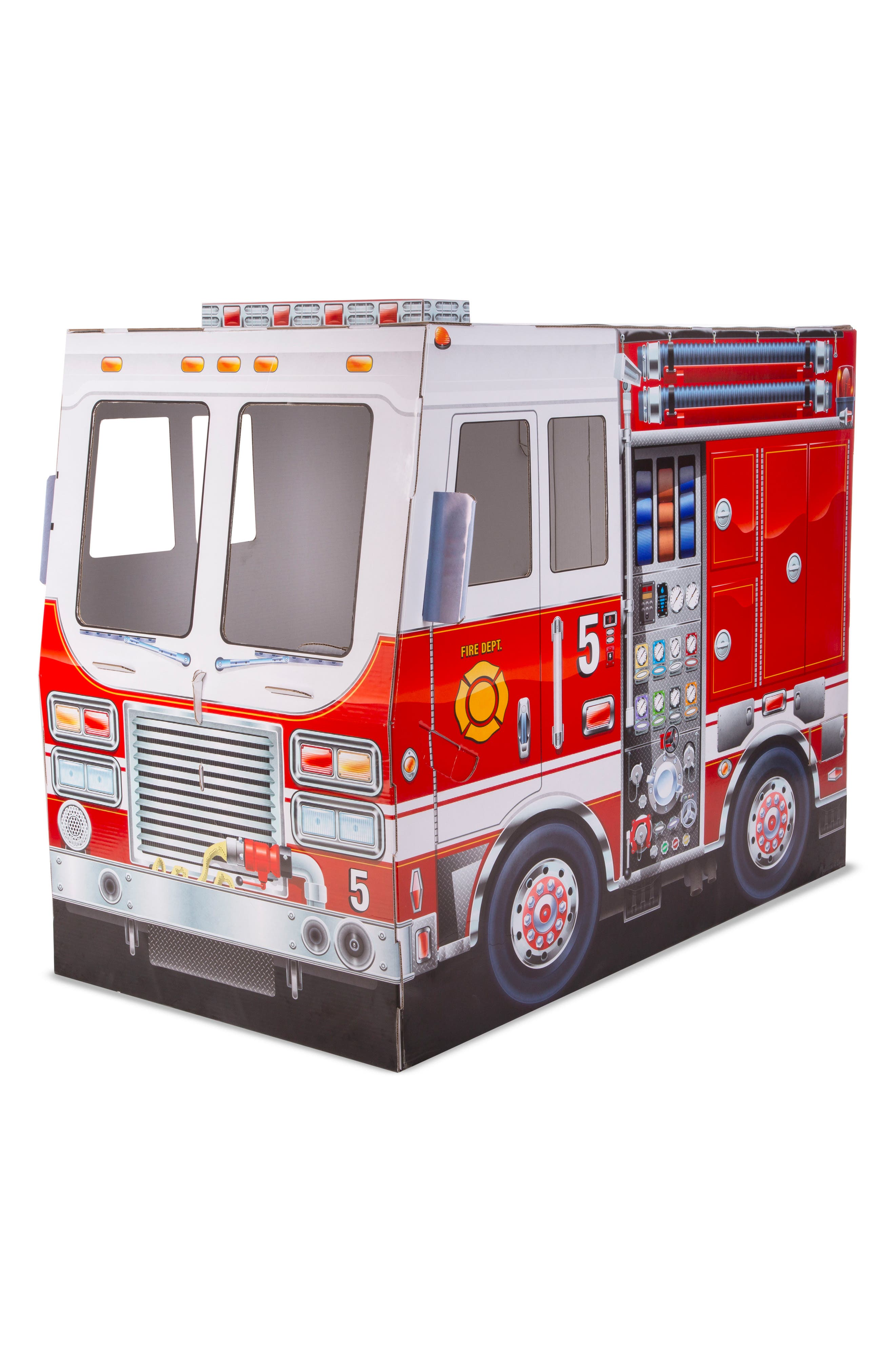 MELISSA & DOUG Indoor Fire Truck Playhouse, Main, color, RED