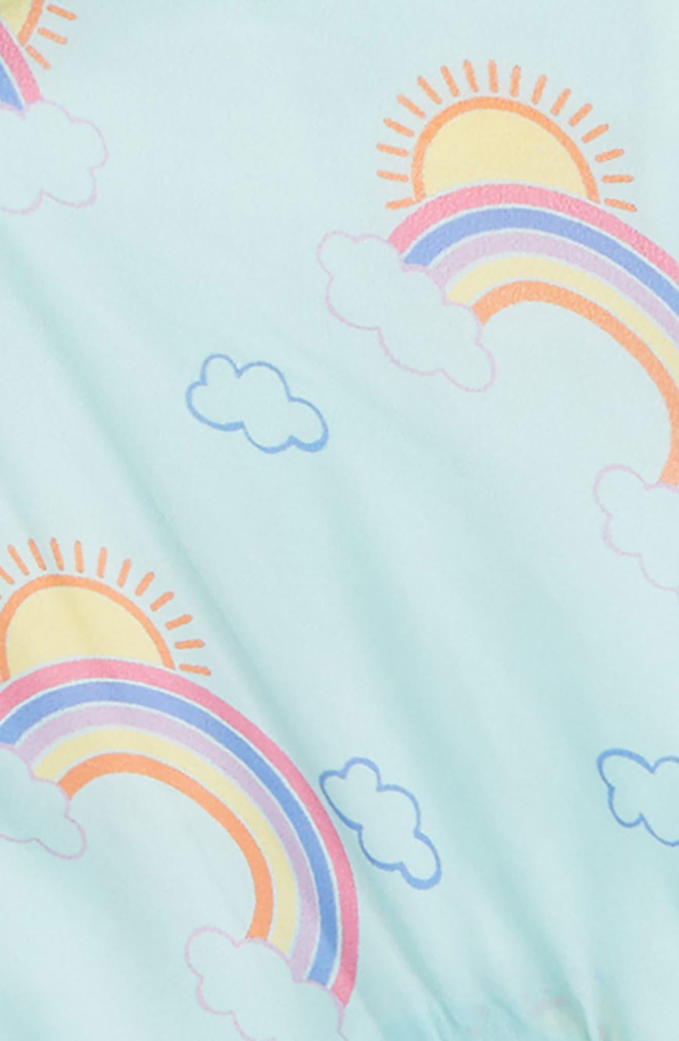 Rainbow Hooded Nylon Windbreaker,                             Alternate thumbnail 2, color,                             450