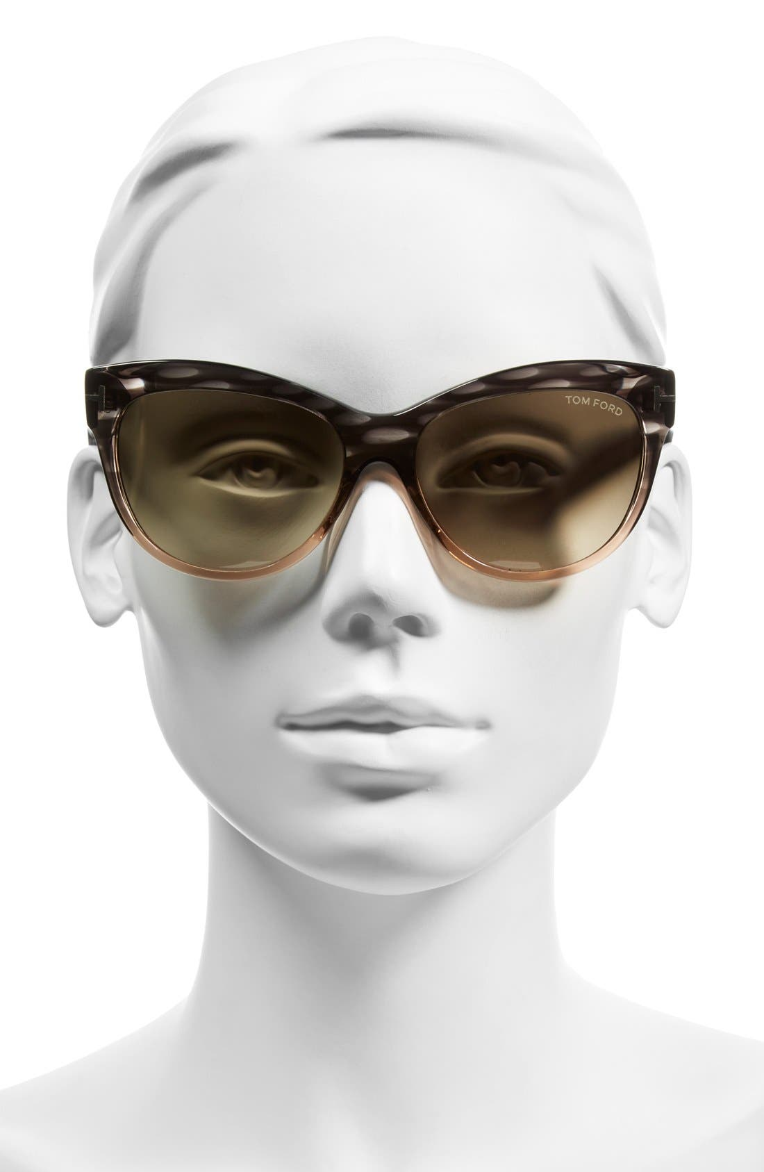 'Lily' 56mm Cat Eye Sunglasses,                             Alternate thumbnail 2, color,                             020