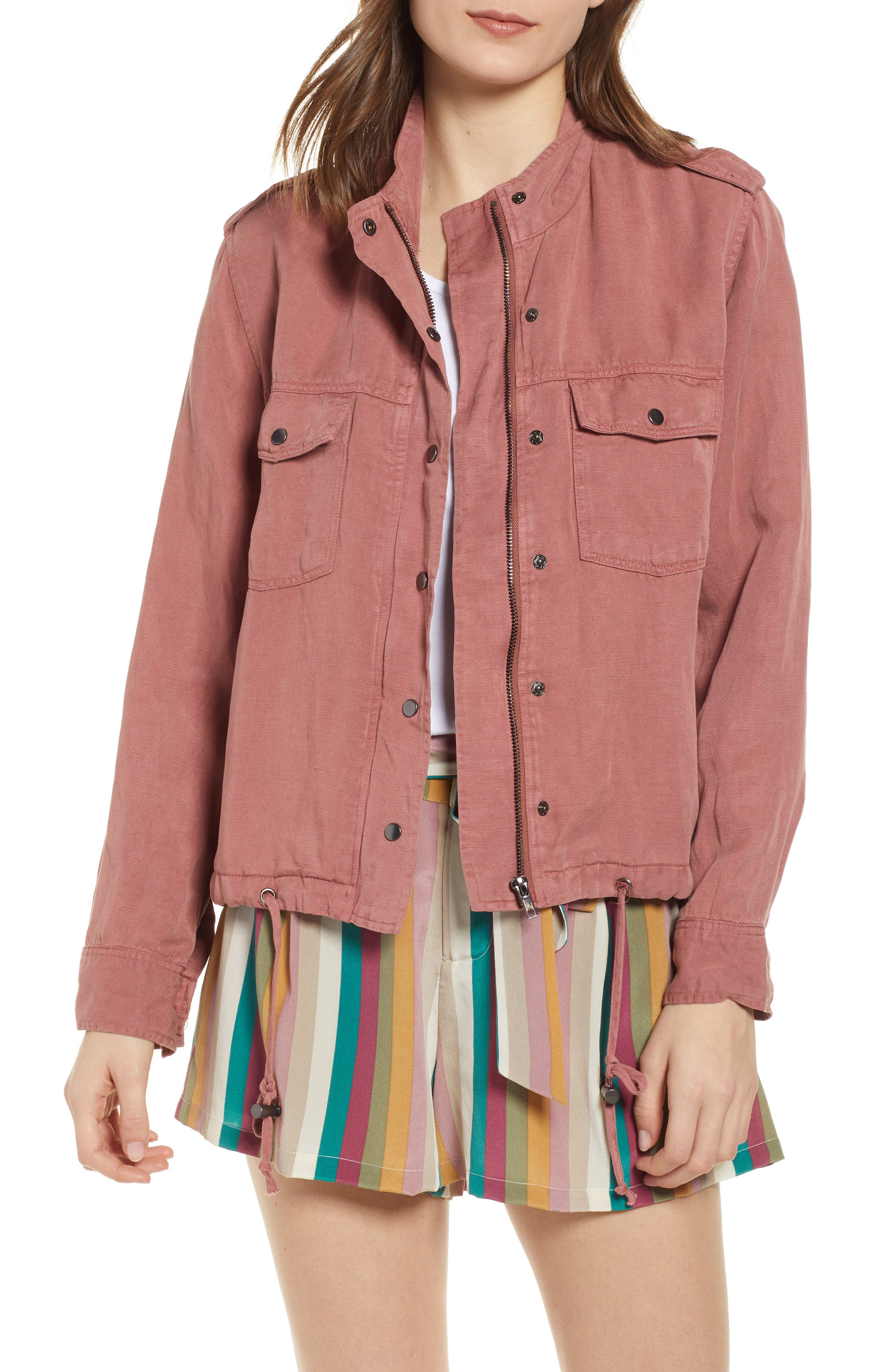 RAILS Collins Military Jacket, Main, color, BRICK