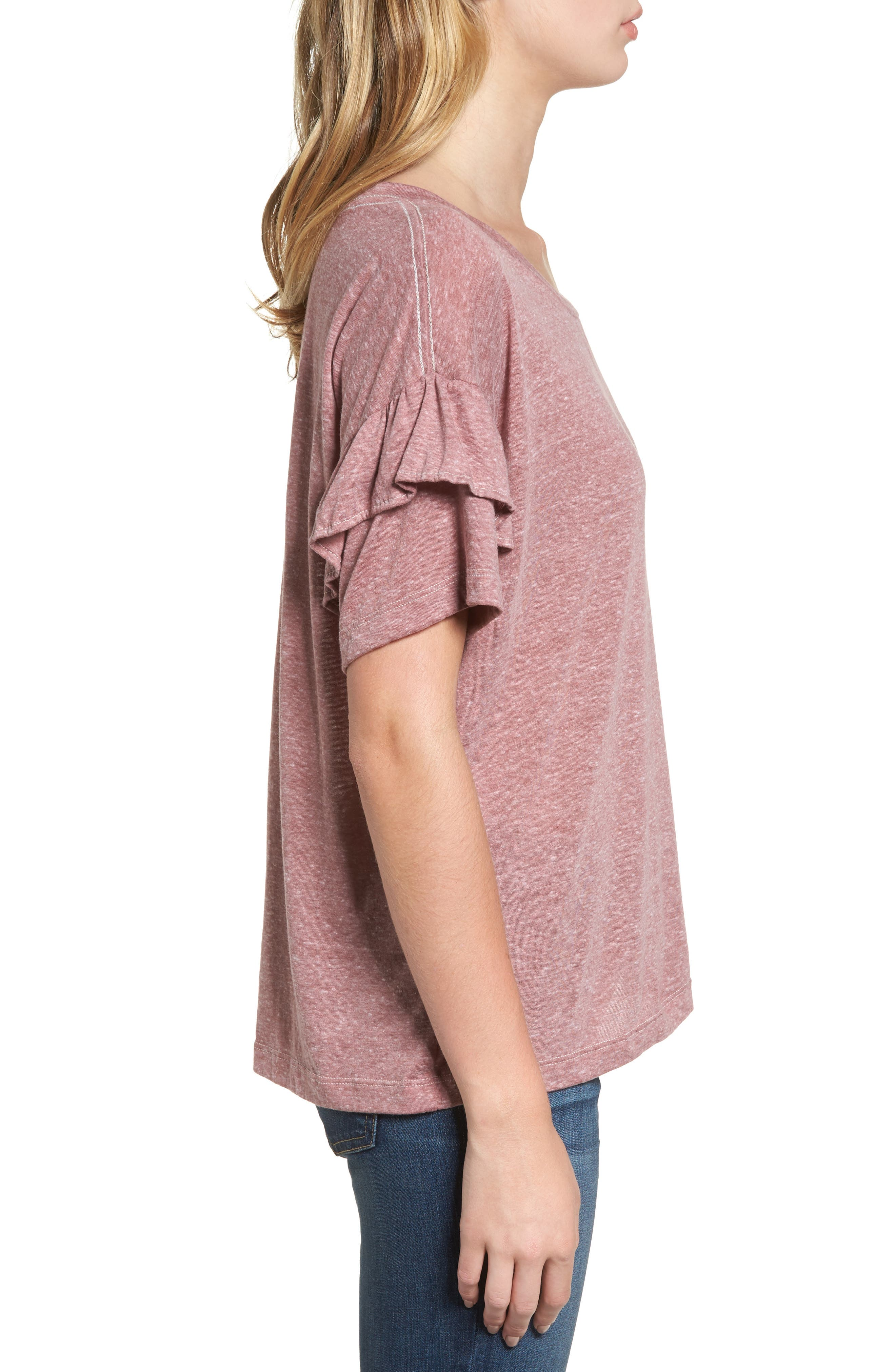 The Ruffle Roadie Tee,                             Alternate thumbnail 3, color,                             683