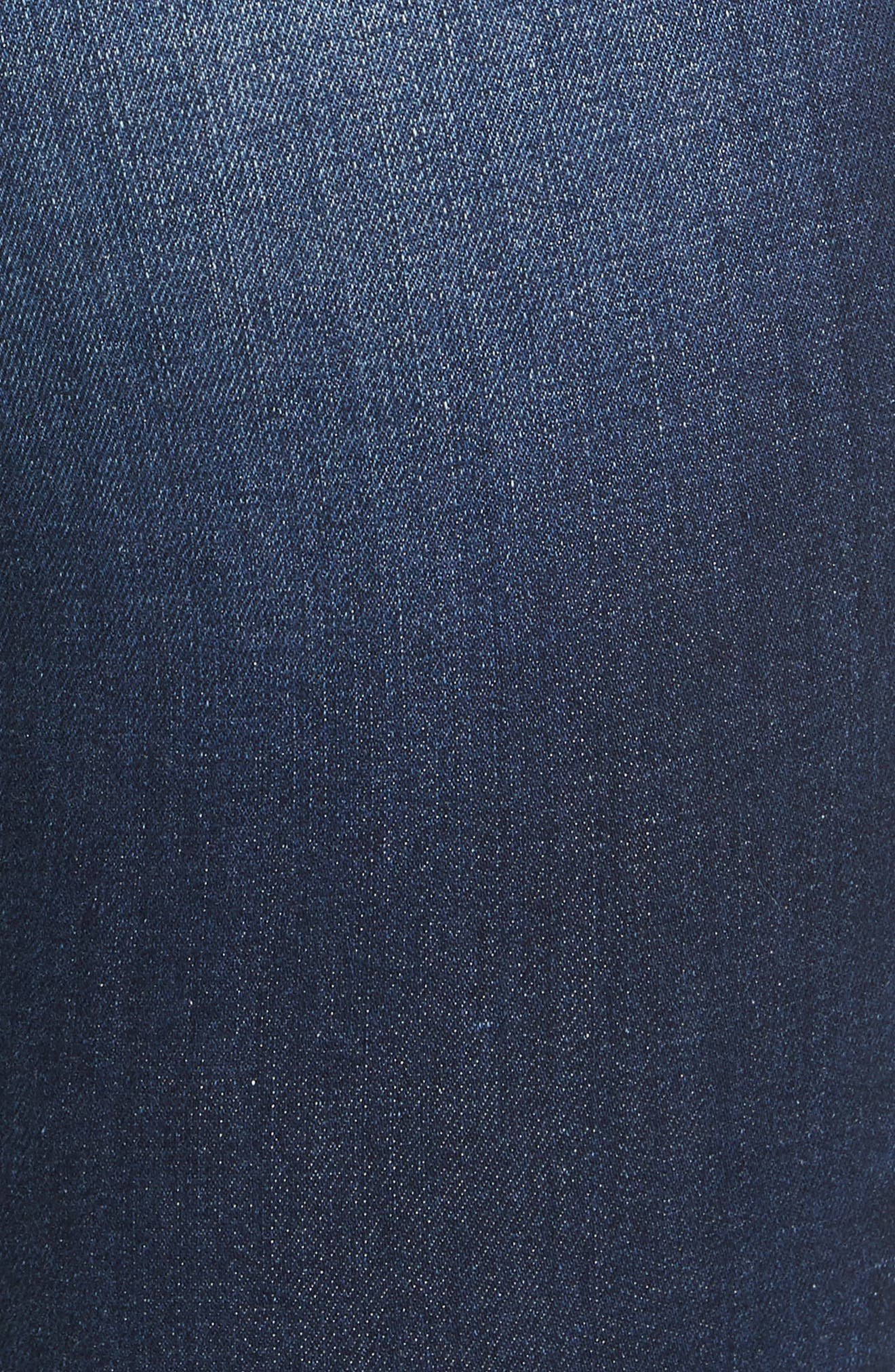 Margot Ripped Skinny Jeans,                             Alternate thumbnail 5, color,                             BALTIC DESTRUCT