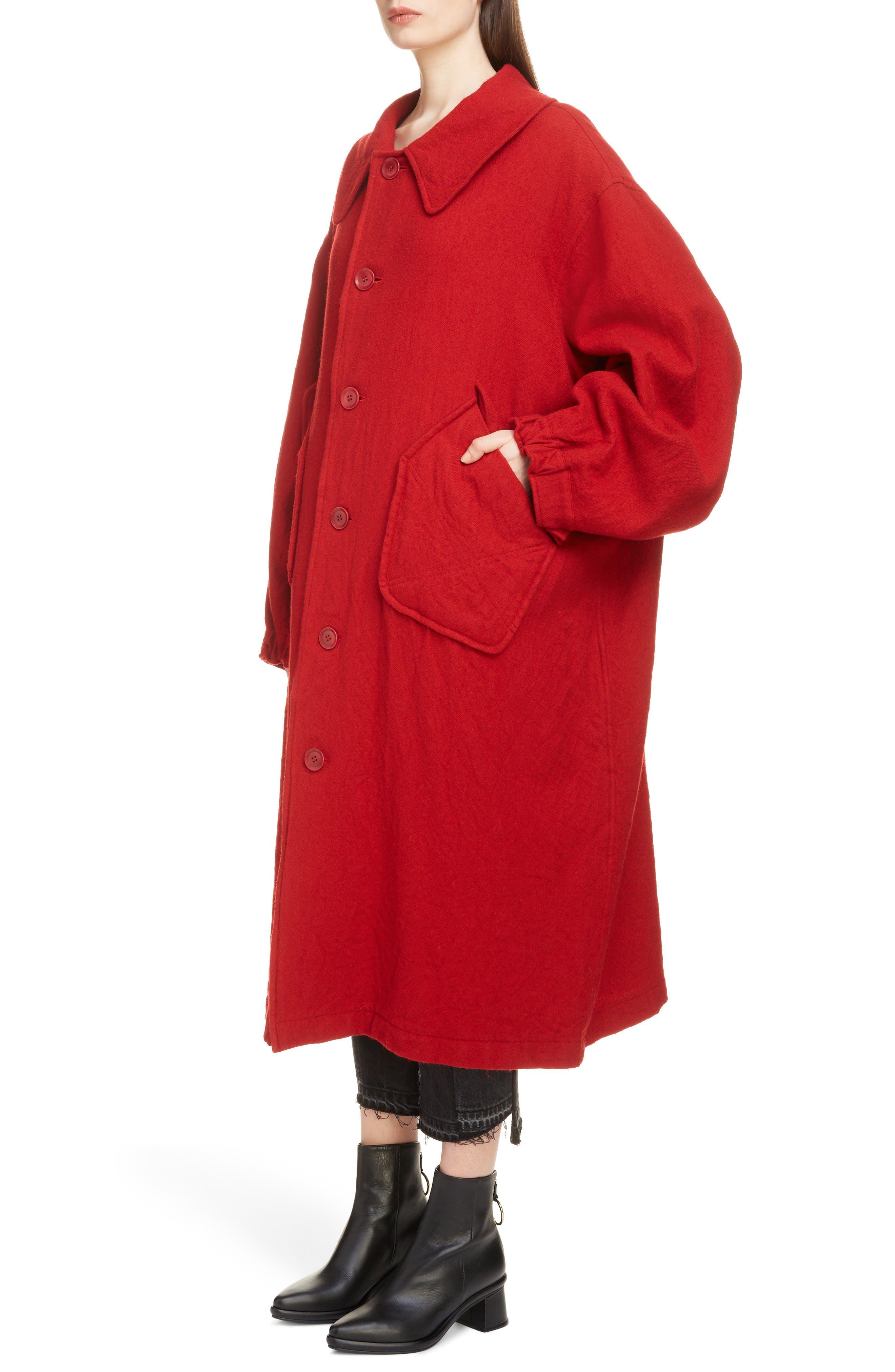 Big Pocket Wool Coat,                             Alternate thumbnail 4, color,                             600