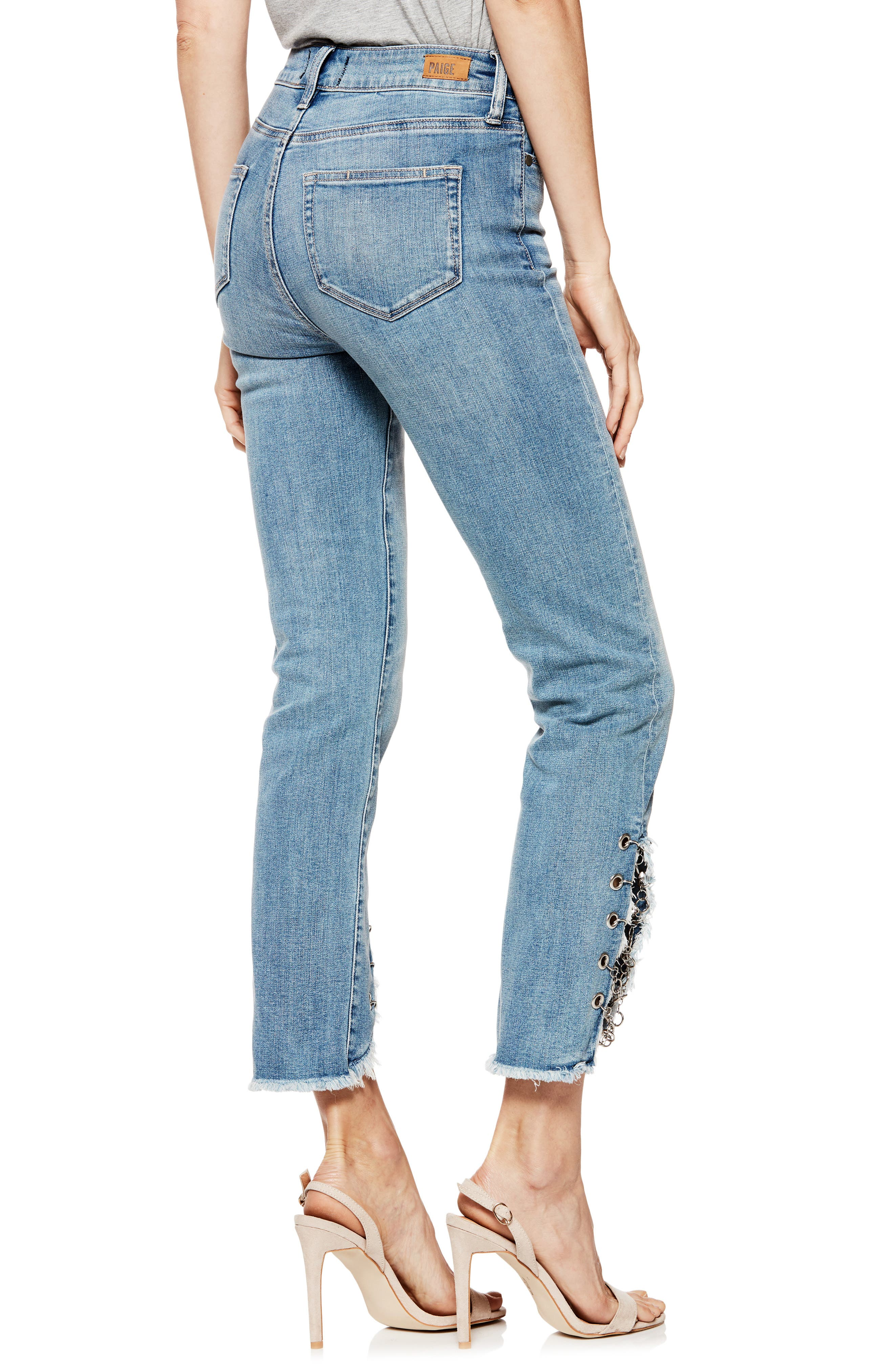 Hoxton High Waist Ankle Straight Leg Jeans,                             Alternate thumbnail 2, color,                             400