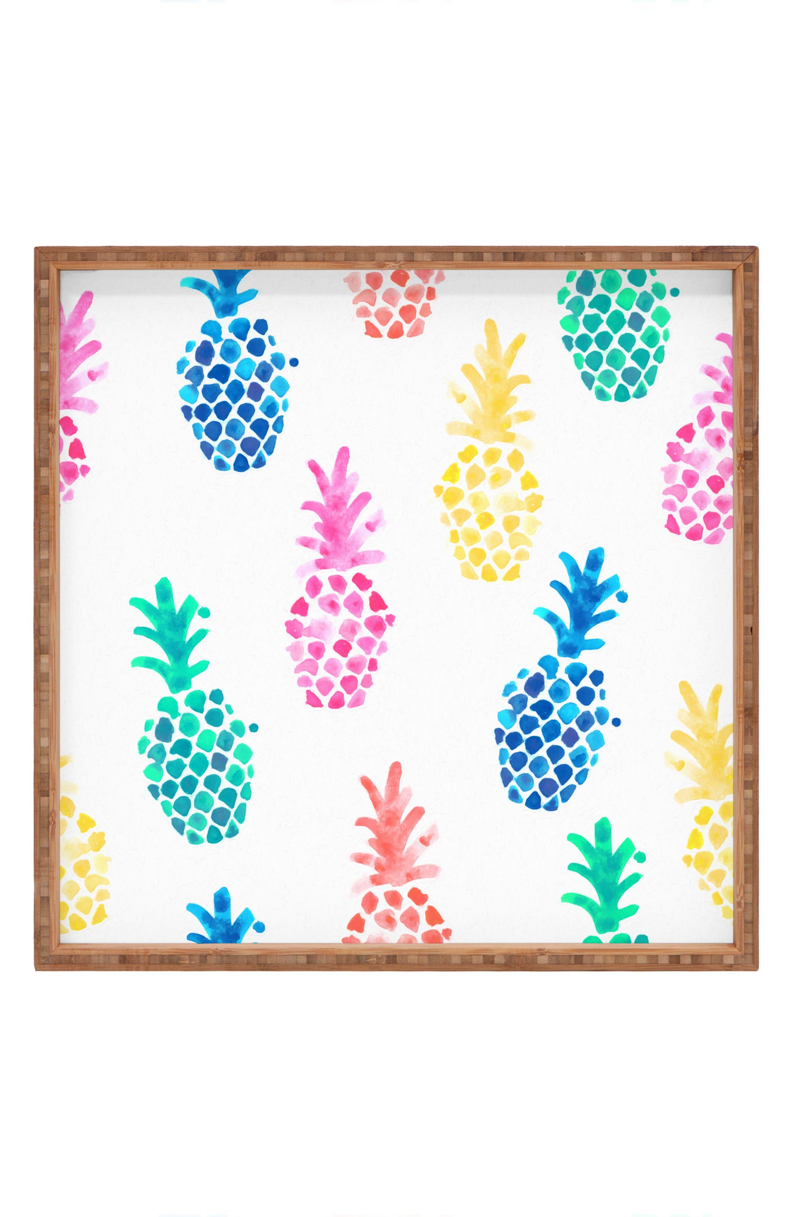 Dash & Ash - Pineapple Paradise Decorative Tray,                             Main thumbnail 1, color,                             700