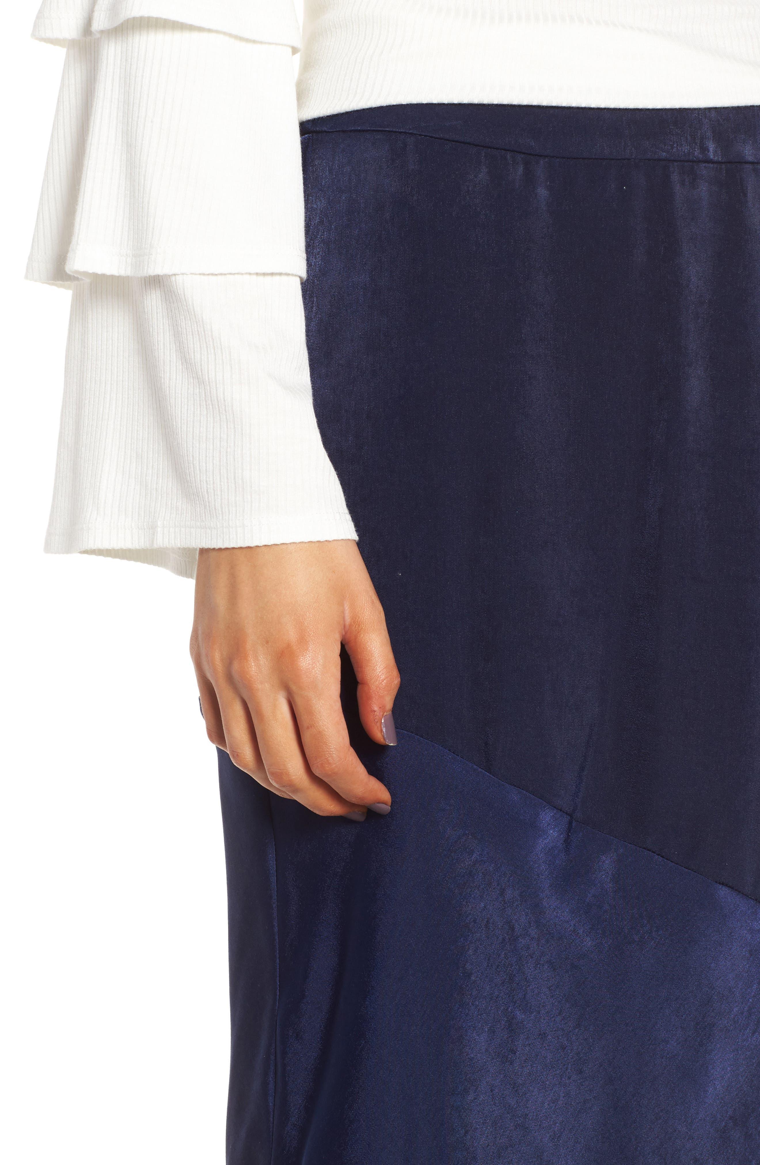 BP Satin Midi Skirt,                             Alternate thumbnail 4, color,                             410
