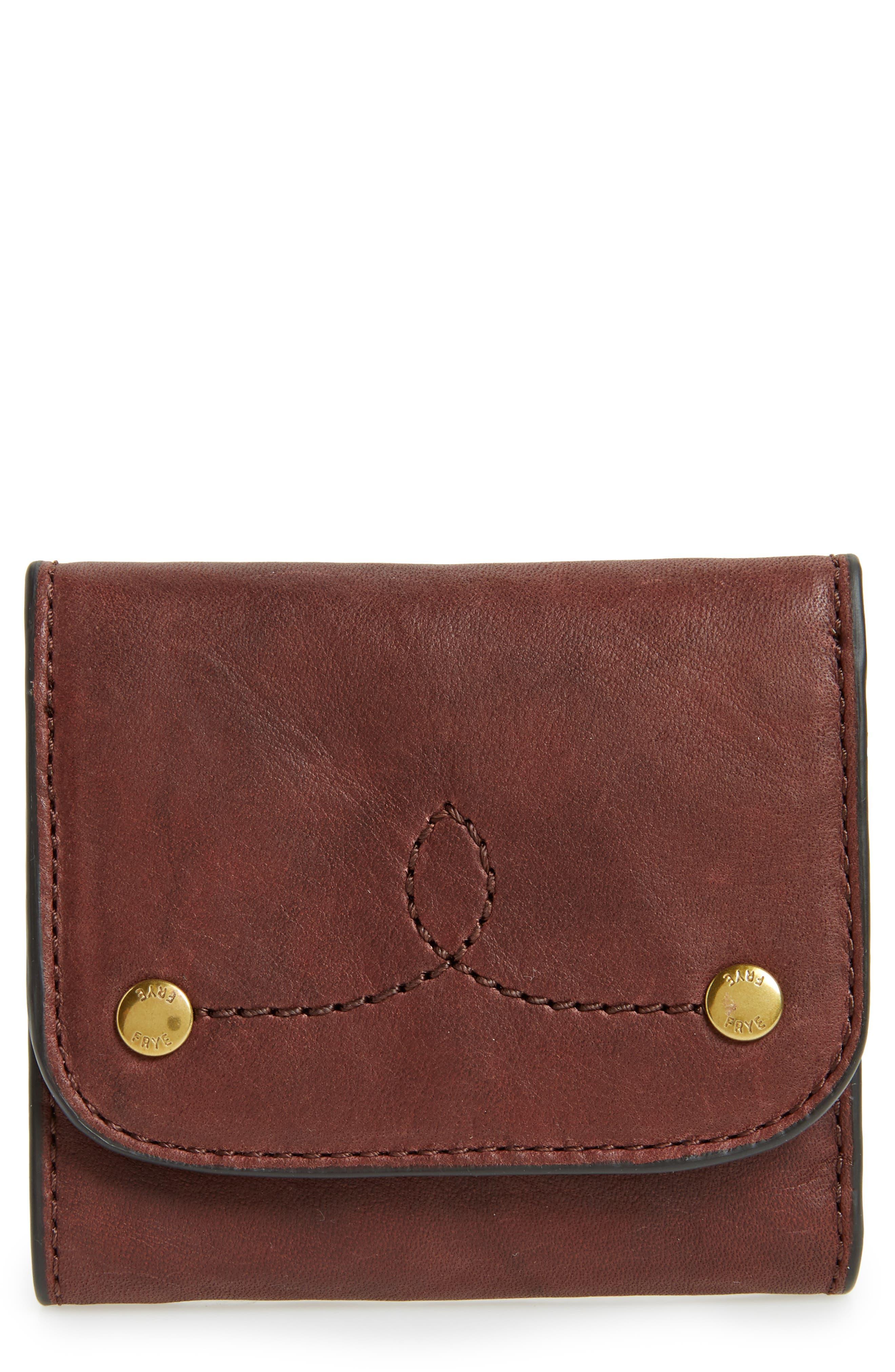 Medium Campus Rivet Leather Wallet,                             Main thumbnail 1, color,                             210