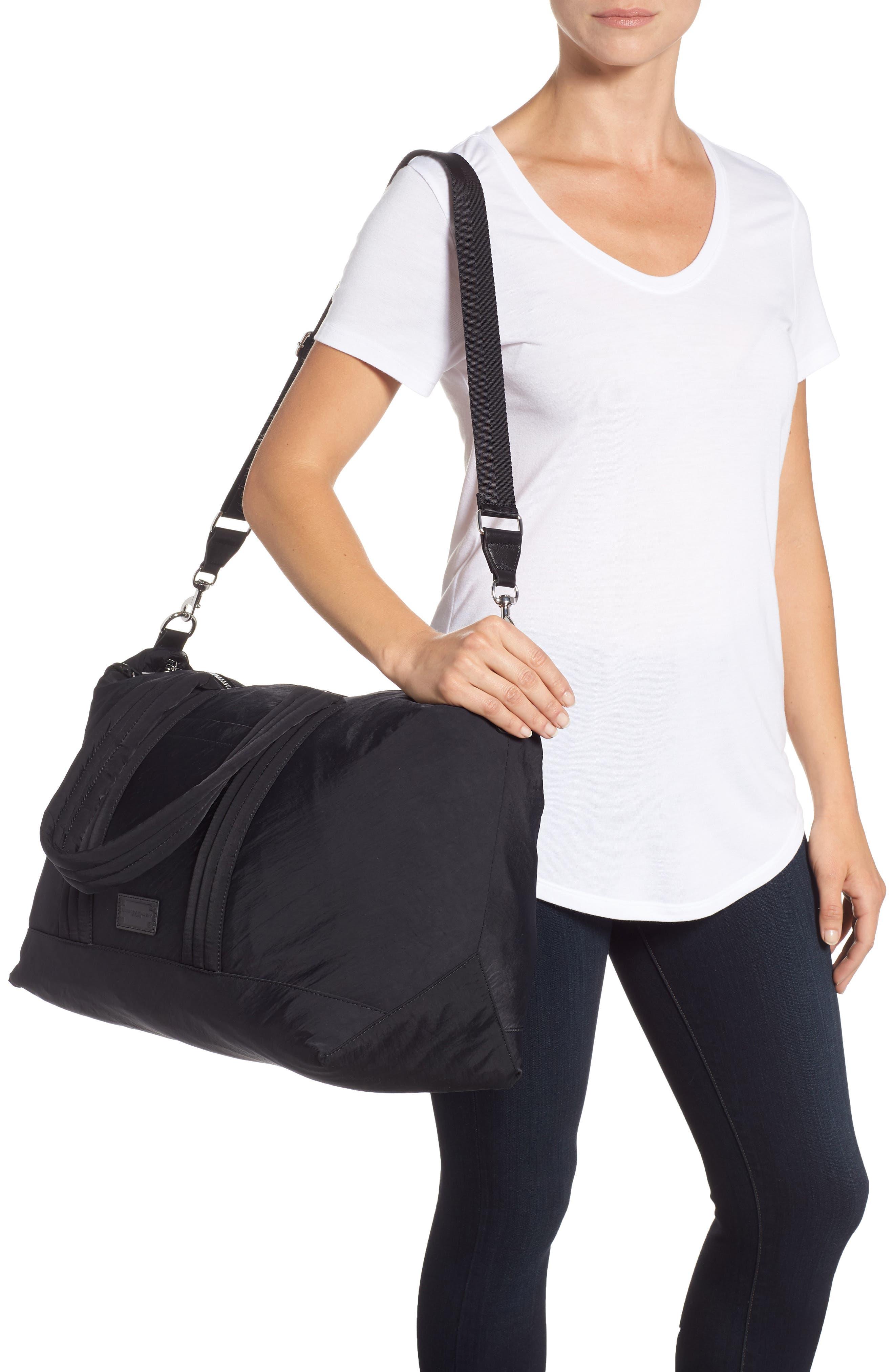 Weekend Nylon Duffel Bag,                             Alternate thumbnail 2, color,                             BLACK